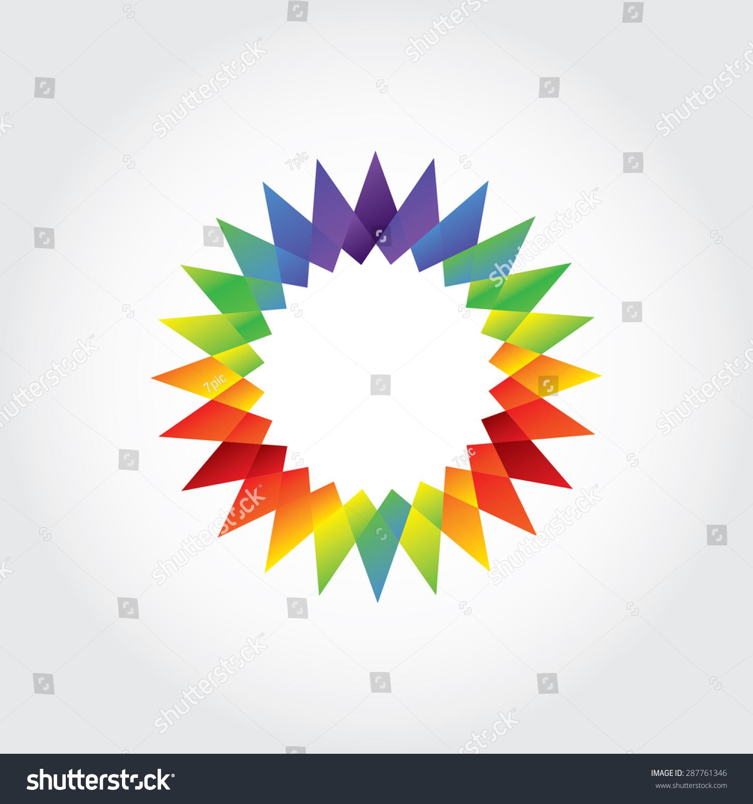 star shape sun shape vector logo stock vector royalty free
