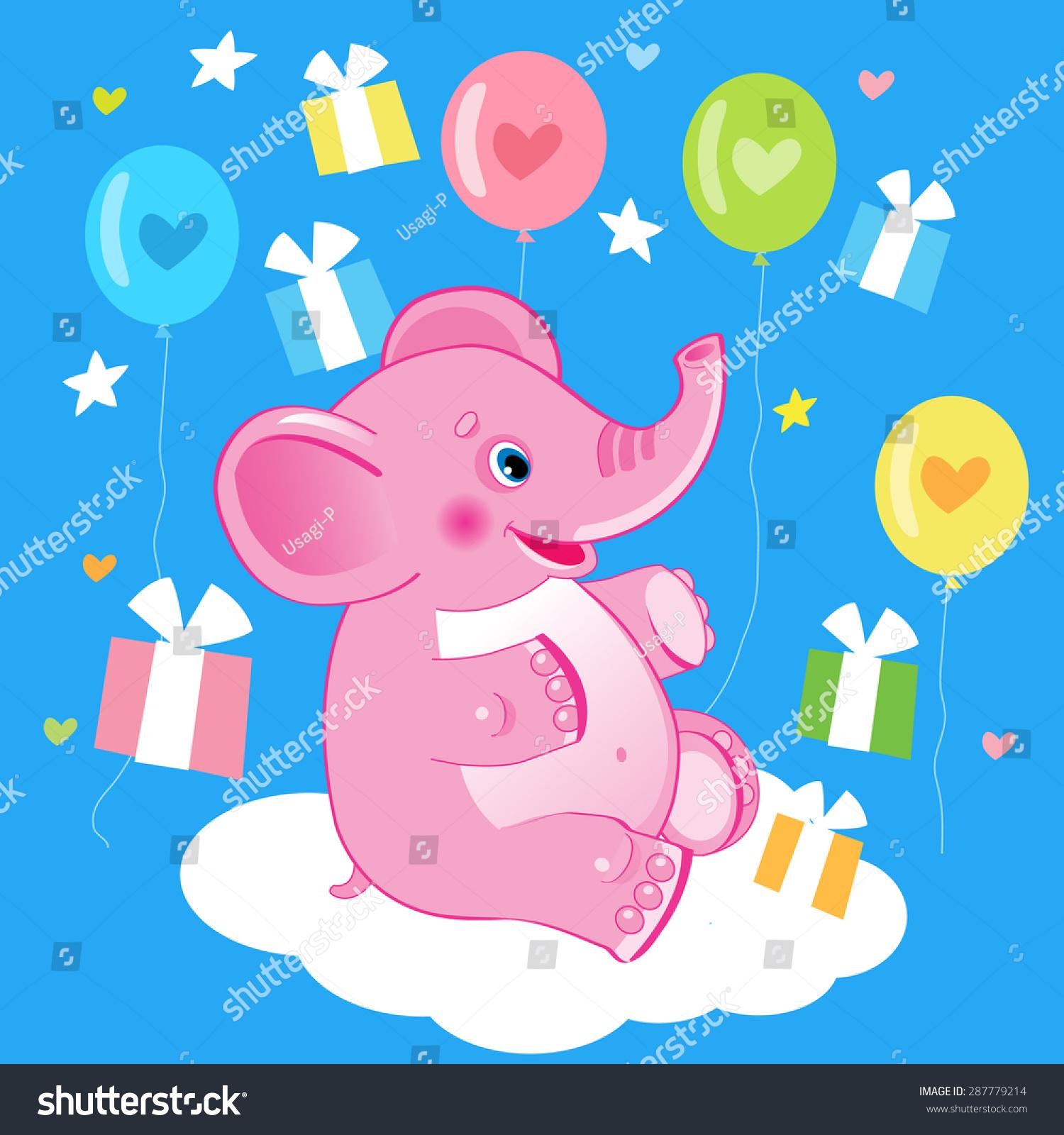 Good Wallpaper Cartoon Elephant - stock-vector-happy-birthday-birthday-picture-cute-elephant-vector-illustration-cute-elephant-drawing-287779214  Gallery_801392  .jpg