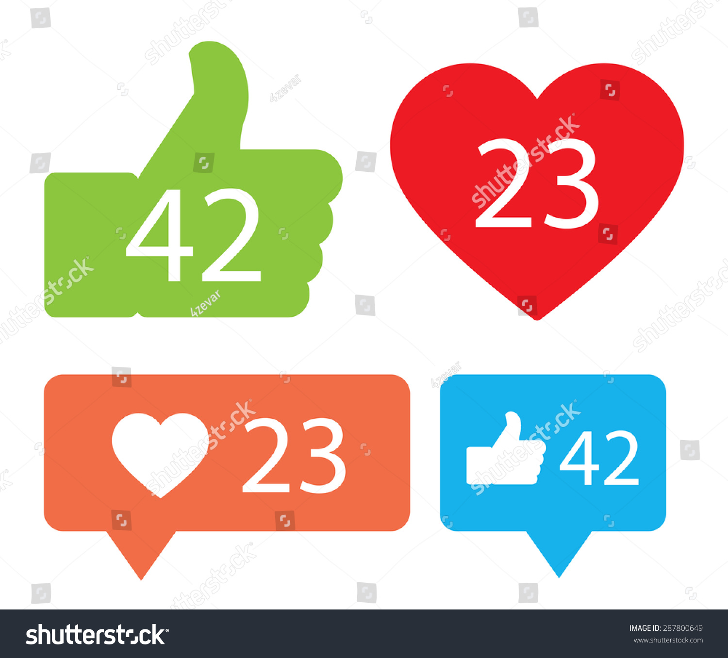 Notification icons stock vector 287800649 shutterstock notification icons biocorpaavc