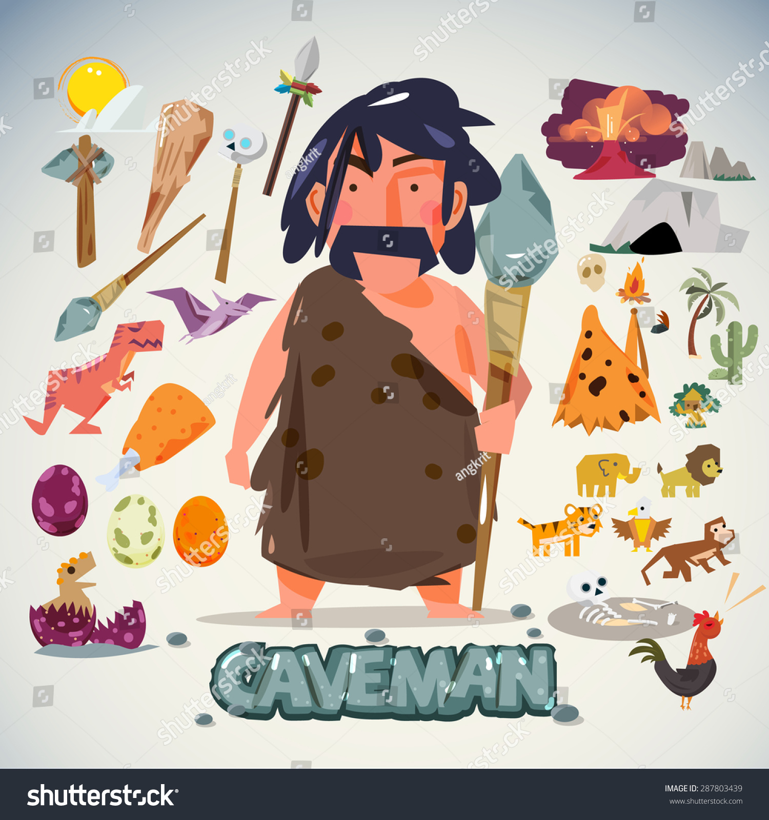 Character Design Tools : Caveman age related keywords suggestions