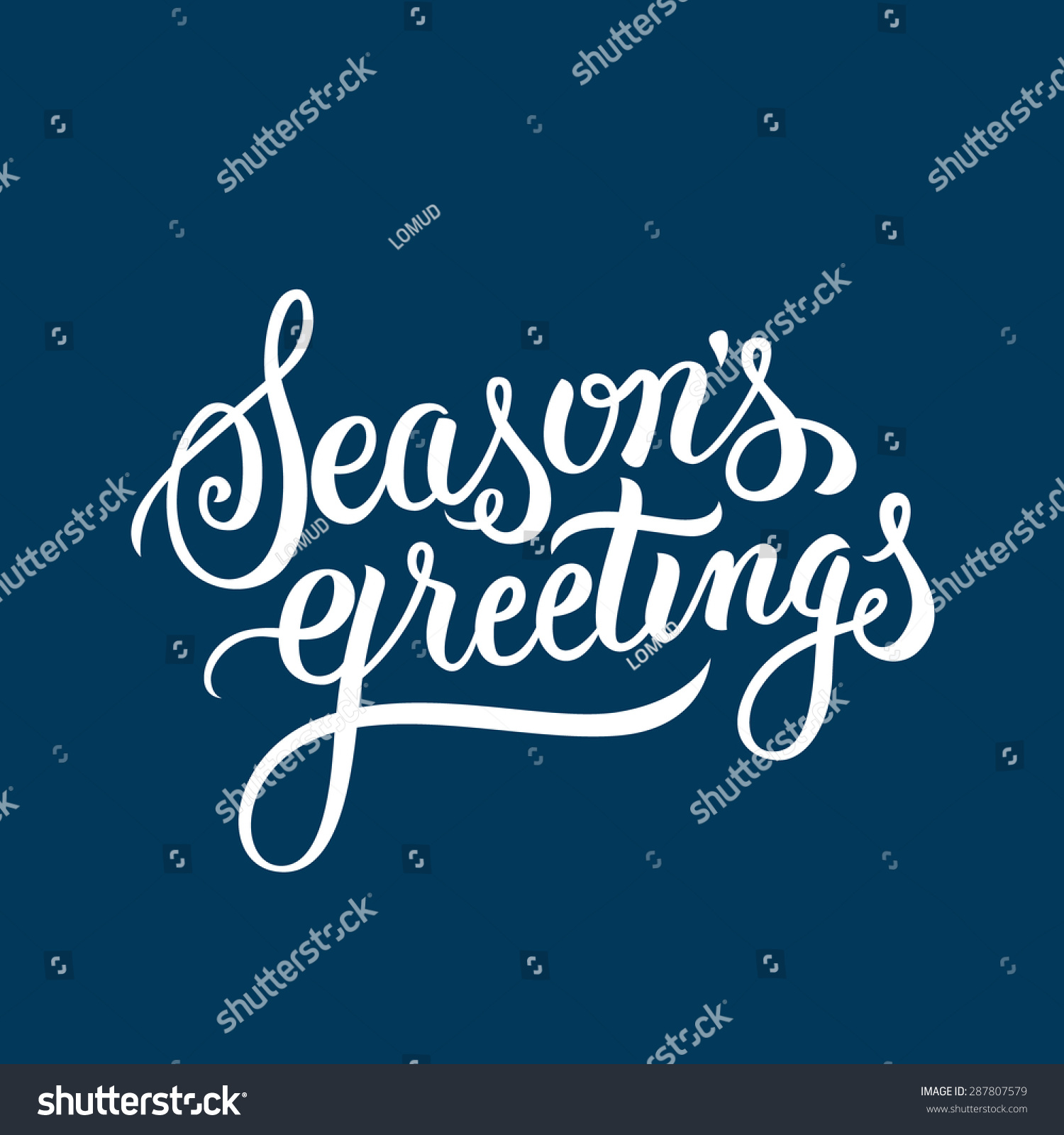 Royalty free seasons greetings hand lettering 287807579 stock seasons greetings hand lettering handmade vector calligraphy 287807579 kristyandbryce Image collections
