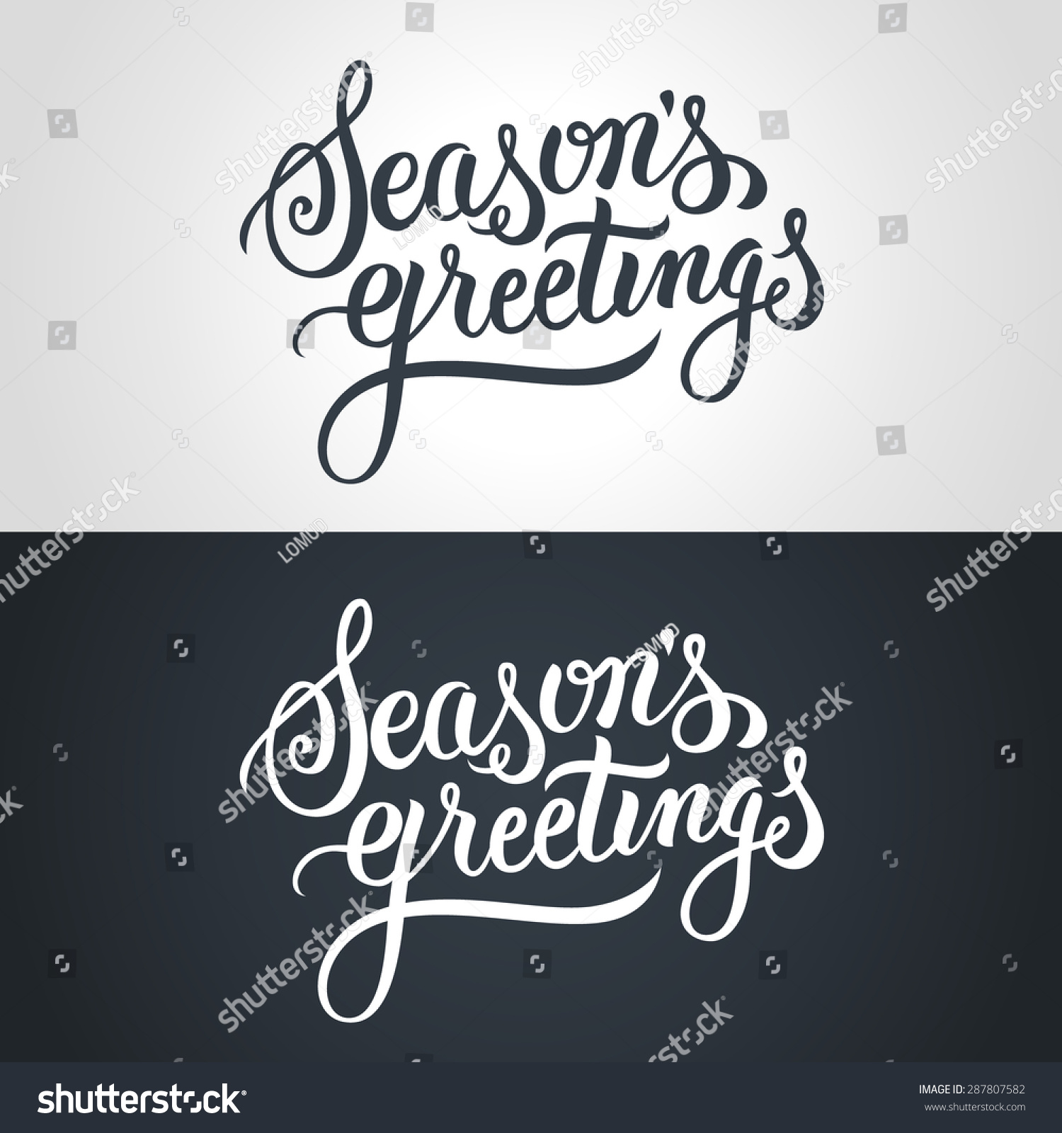 Royalty Free Seasons Greetings Hand Lettering 287807582 Stock