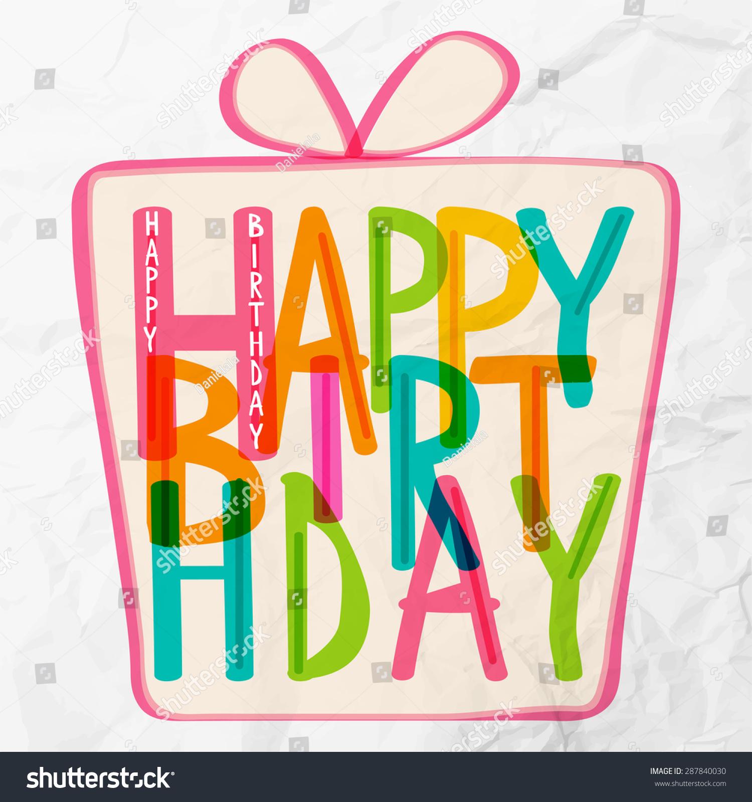 Happy birthday greetings stock vector 287840030 shutterstock happy birthday greetings kristyandbryce Gallery