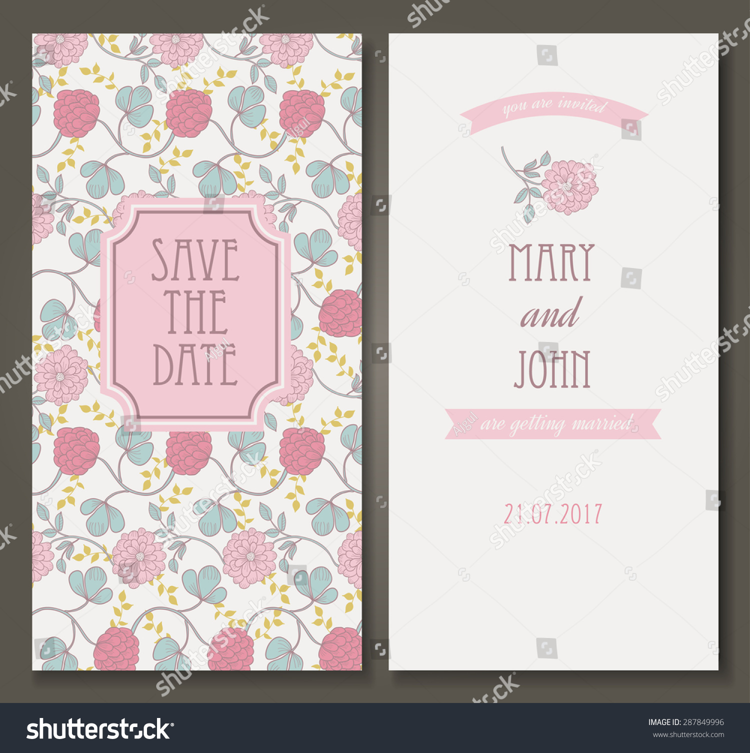 Vintage vector card templates can be used for save the date baby id 287849996 filmwisefo
