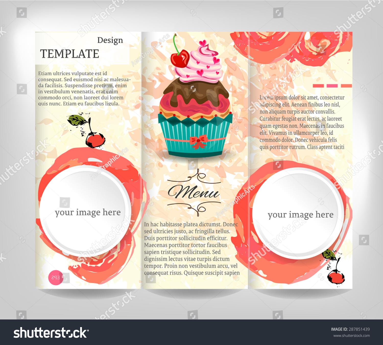 Vintage Brochure Flyer Template Design White Vector – Retro Brochure Template
