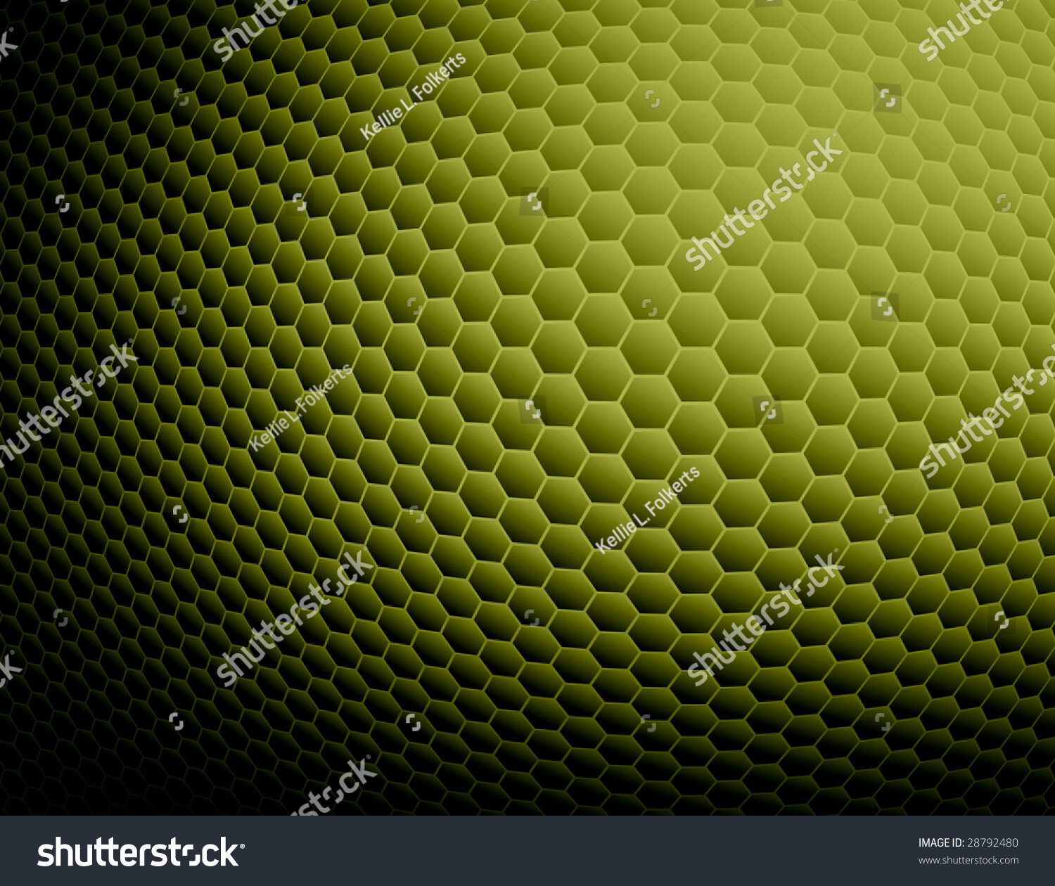 Green Abstract Honeycomb Background Stock Illustration