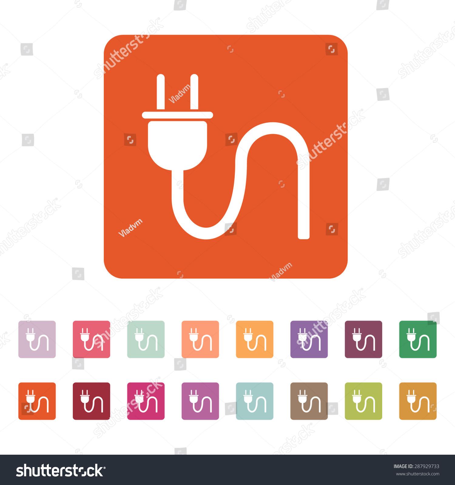 Plug icon electric symbol flat vector stock vector 287929733 the plug icon electric symbol flat vector illustration button set buycottarizona