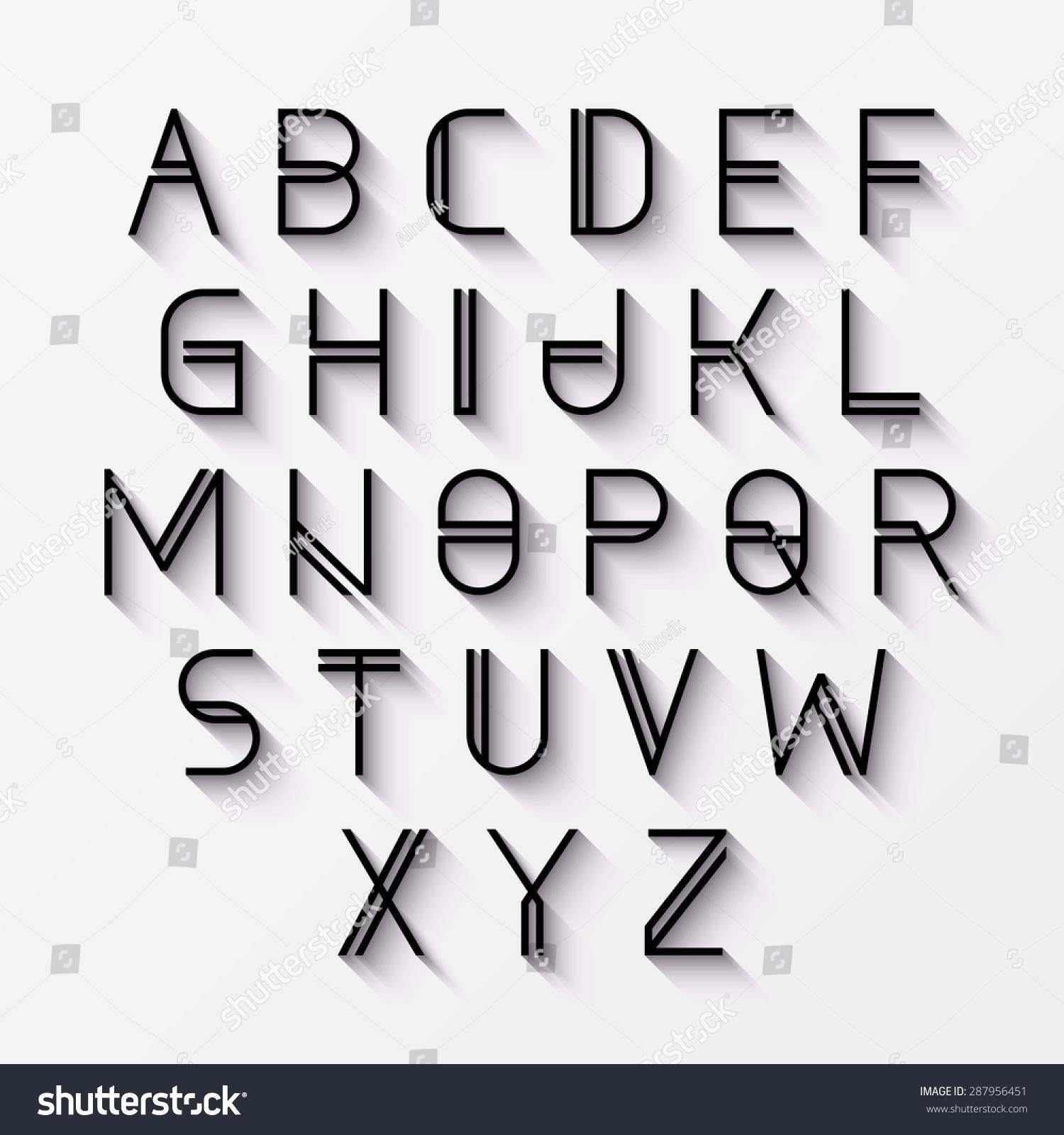 Modern Font Shadow Effect Vector Stock Vector 287956451 - Shutterstock