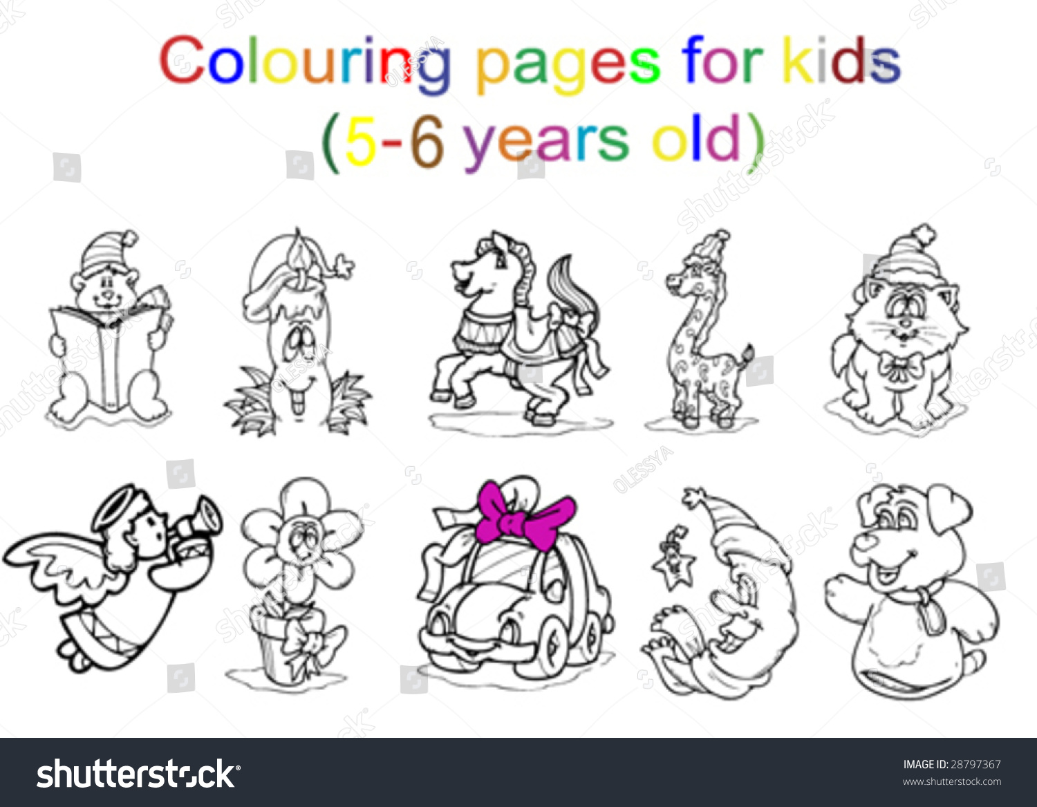 Colouring pages for kids 5 6 years old stock vector Coloring book for 5 year olds