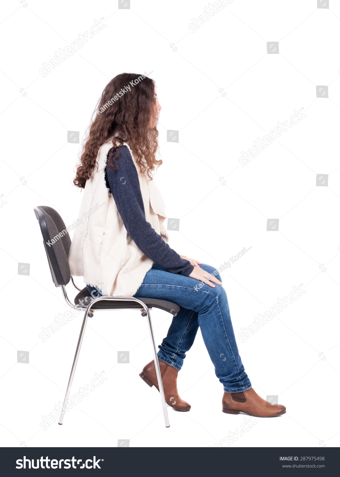 Person sitting on bench side view people sitting stock photos images