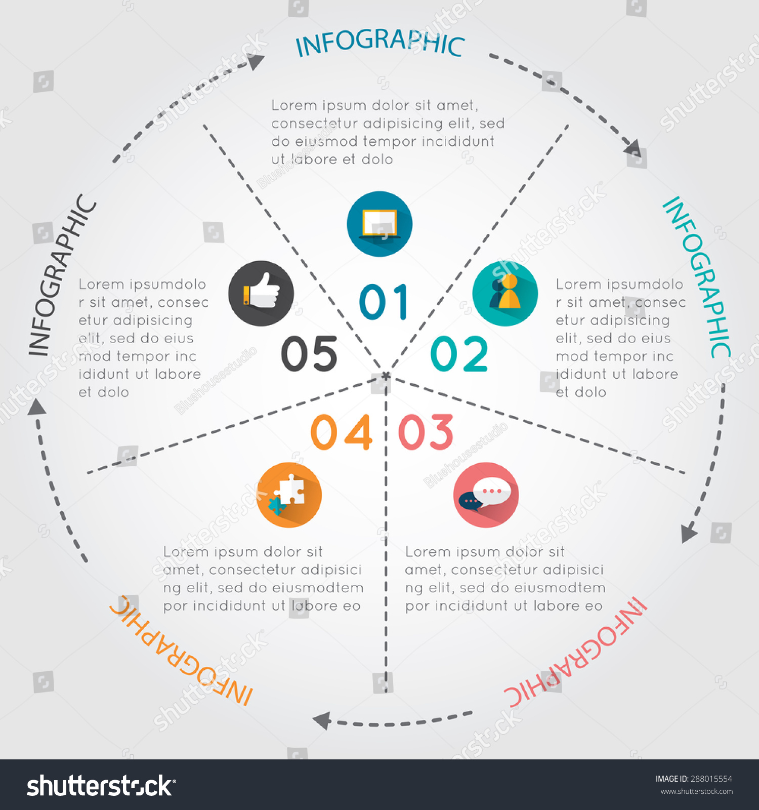 Circular chart infographic pie chart arrows stock vector 288015554 circular chart infographic pie chart with arrows around it on white background nvjuhfo Image collections