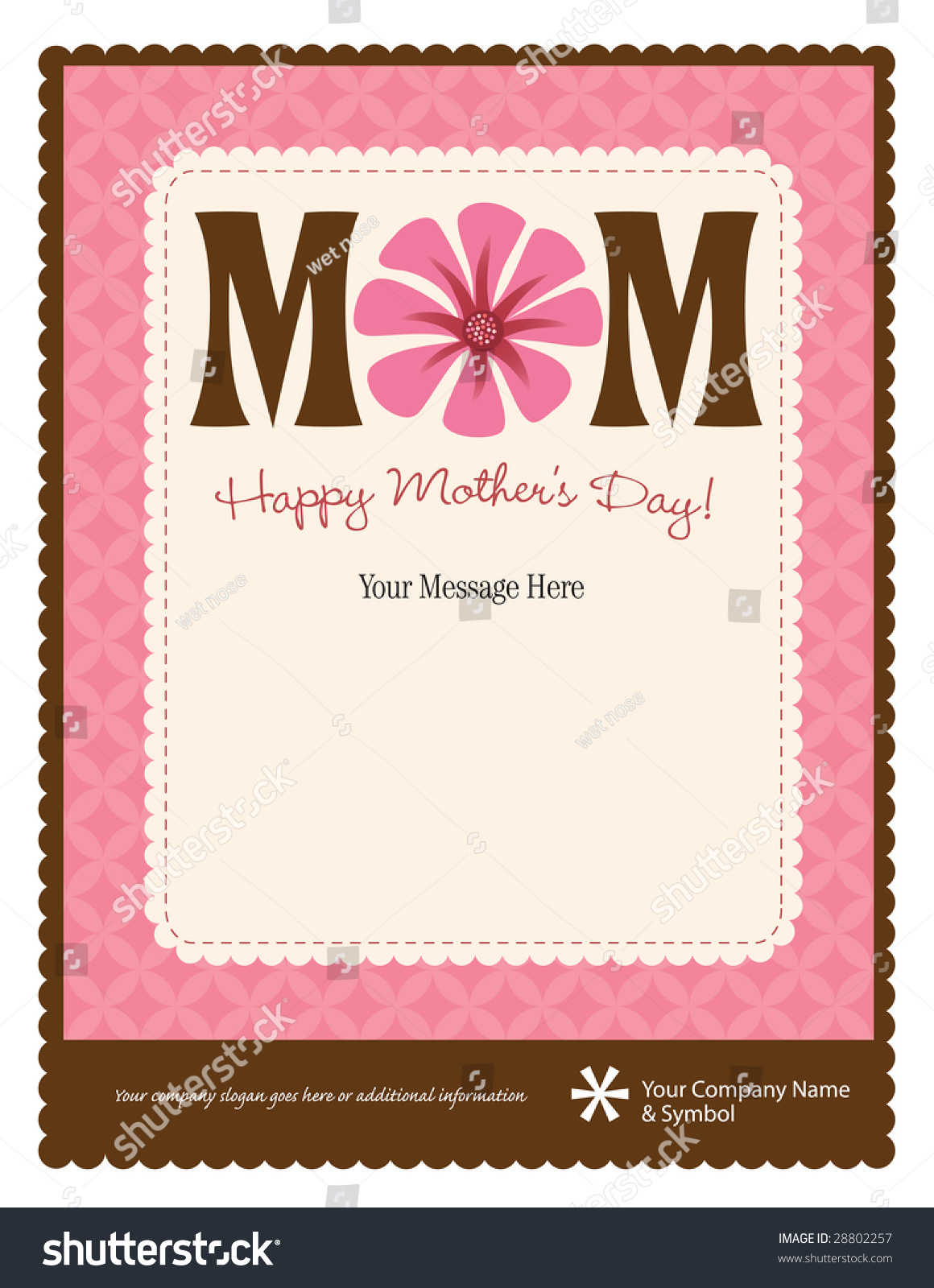 85x11 Happy Mothers Day Flyerposter Template Vector 28802257 – Mothers Day Flyer
