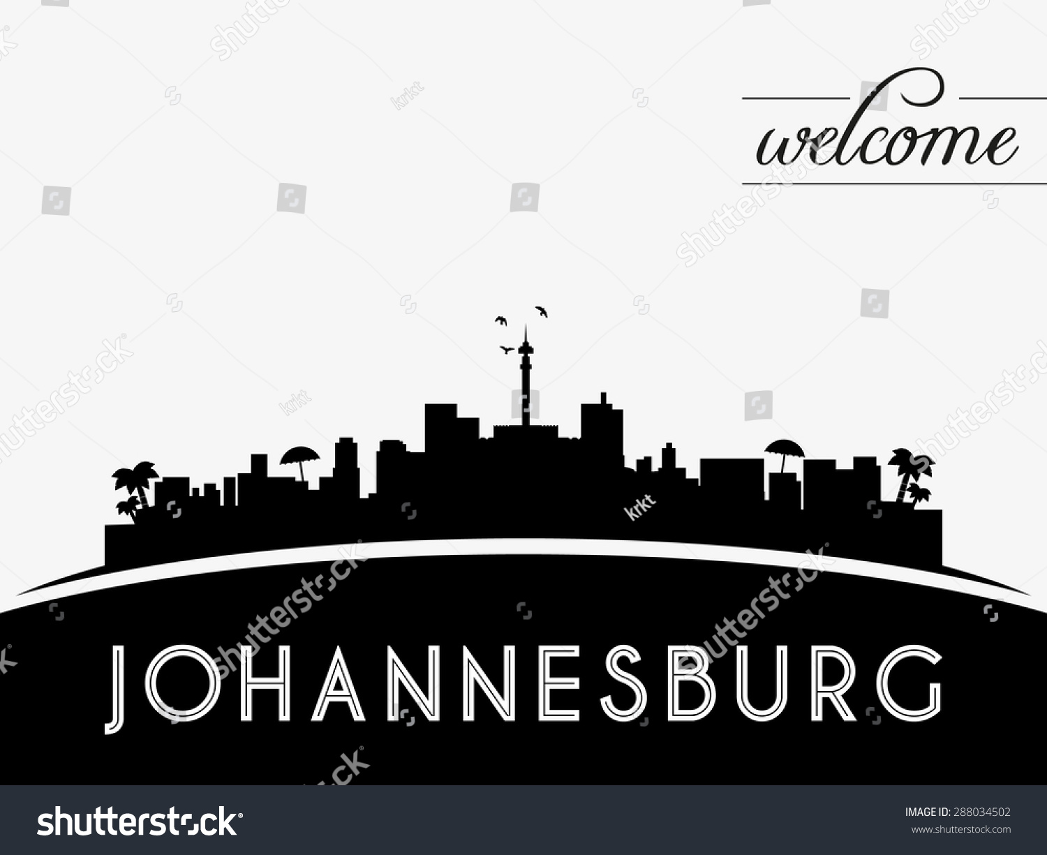 Johannesburg skyline vector illustration linear johannesburg south johannesburg skyline silhouette black vector design on white background thecheapjerseys Image collections