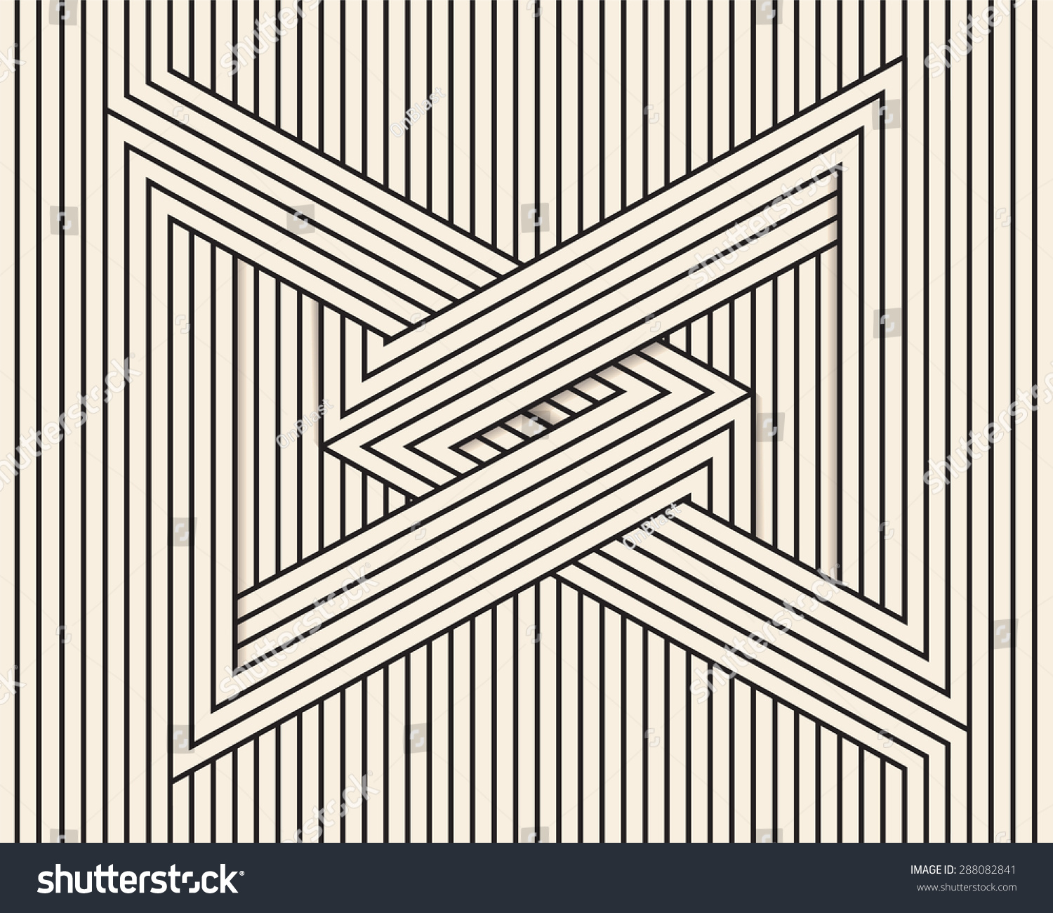 Line Art Illusion : Abstract background made in vector optical illusion
