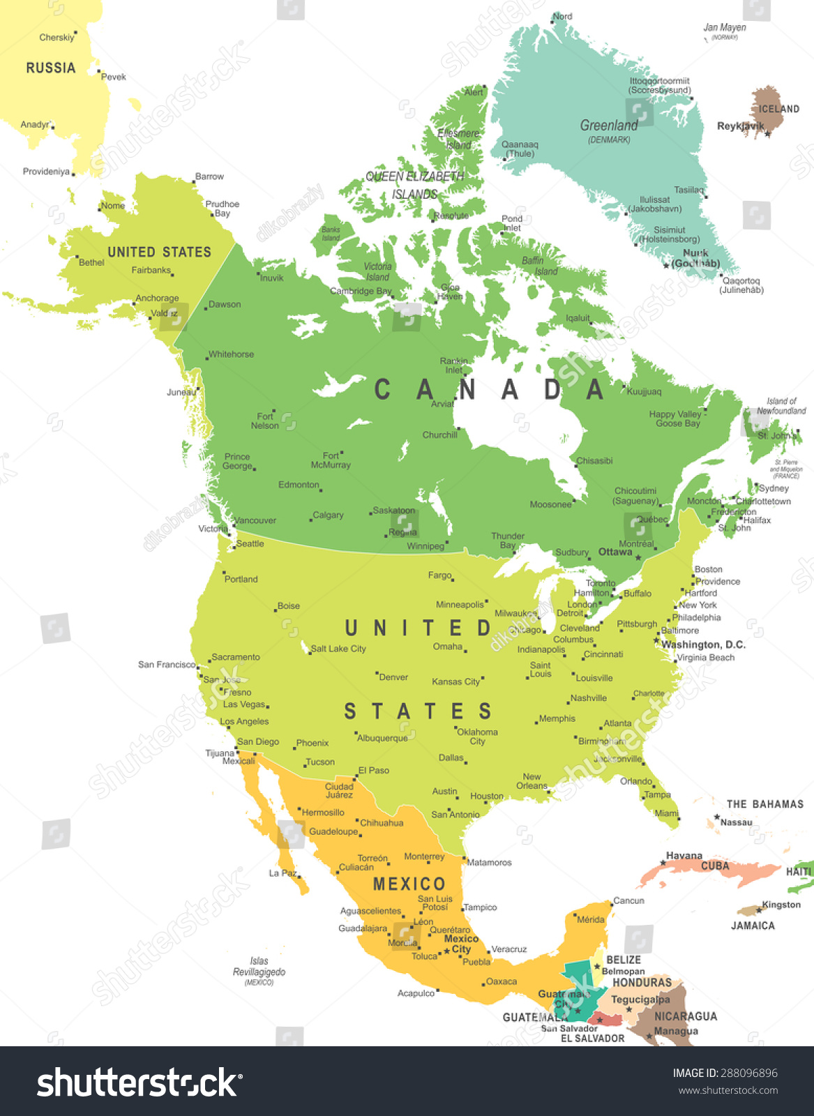 north america map illustration のベクター画像素材 ロイヤリティ