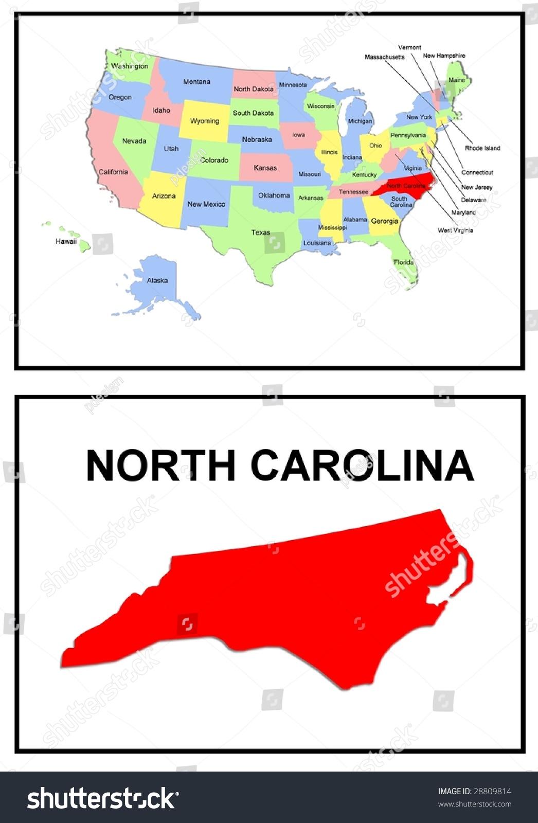 Full Color Map United States America Stock Illustration 28809814 ...