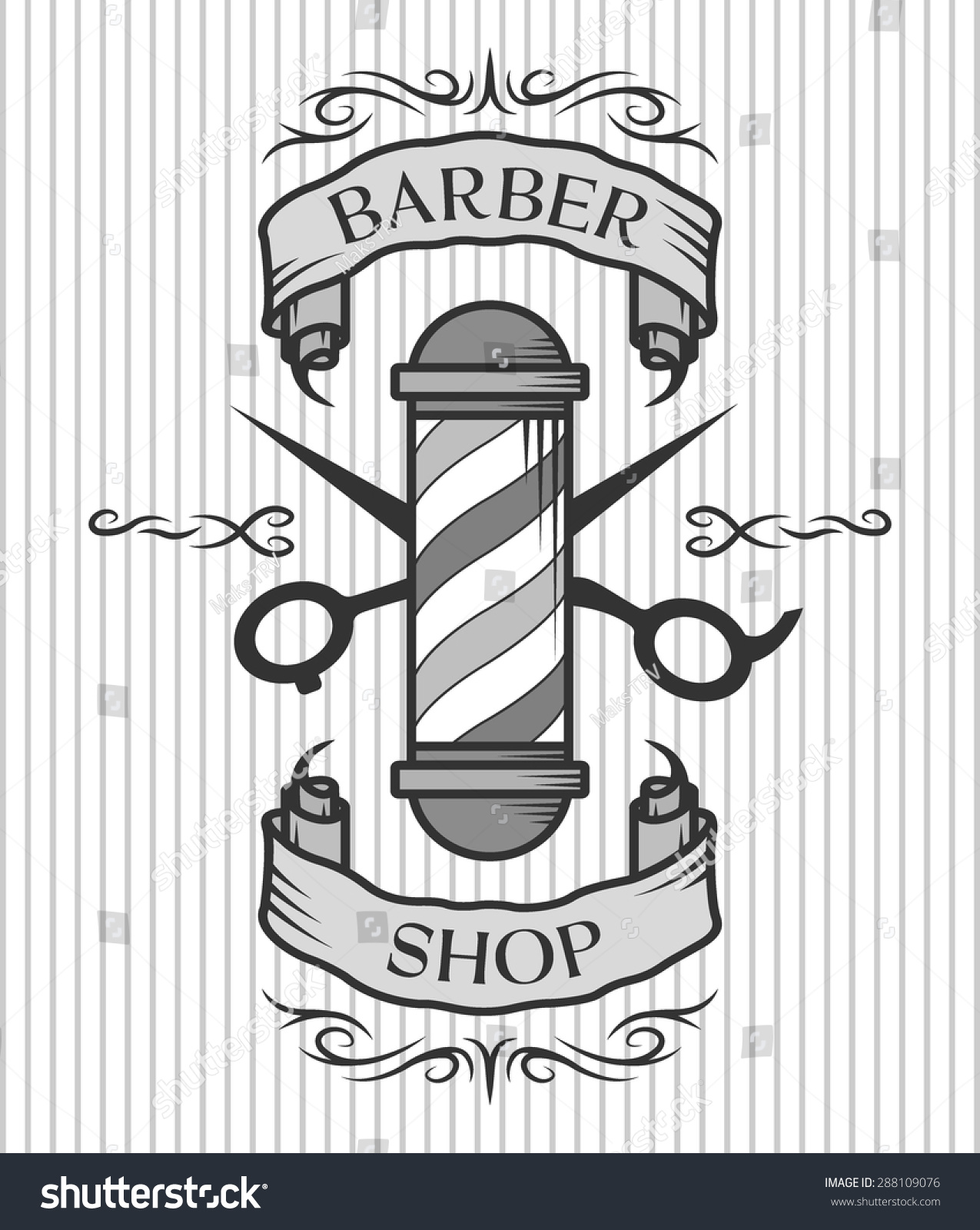 Antique barber shop sign - View Symbol