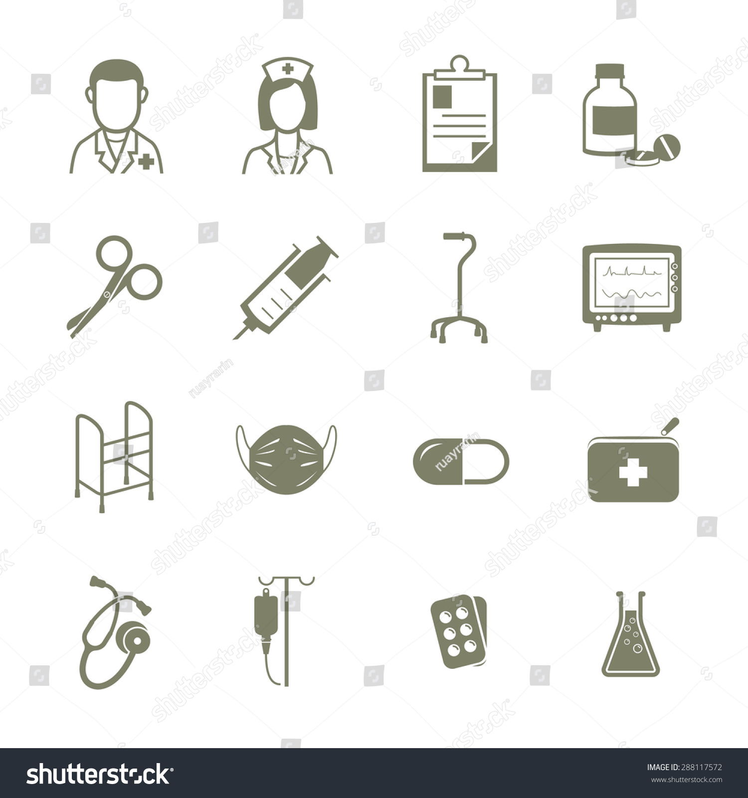 Hospital medical equipment icons vector sign stock vector 288117572 hospital medical equipment icons vector sign symbol biocorpaavc Choice Image