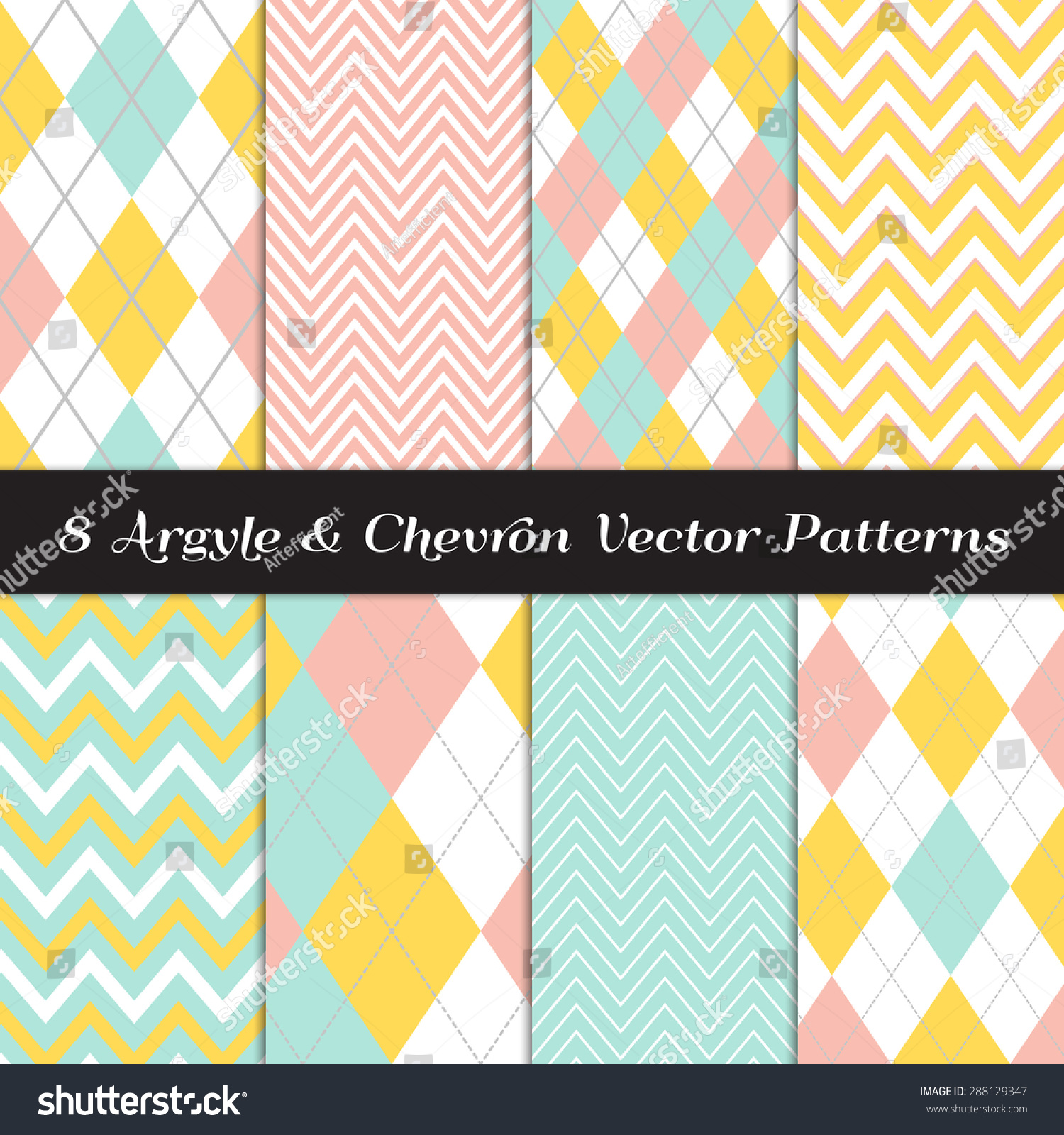 Pics photos merry christmas argyle twitter backgrounds - Yellow Mint Coral And White Chevron And Argyle With Solid And Dashed Lines Patterns