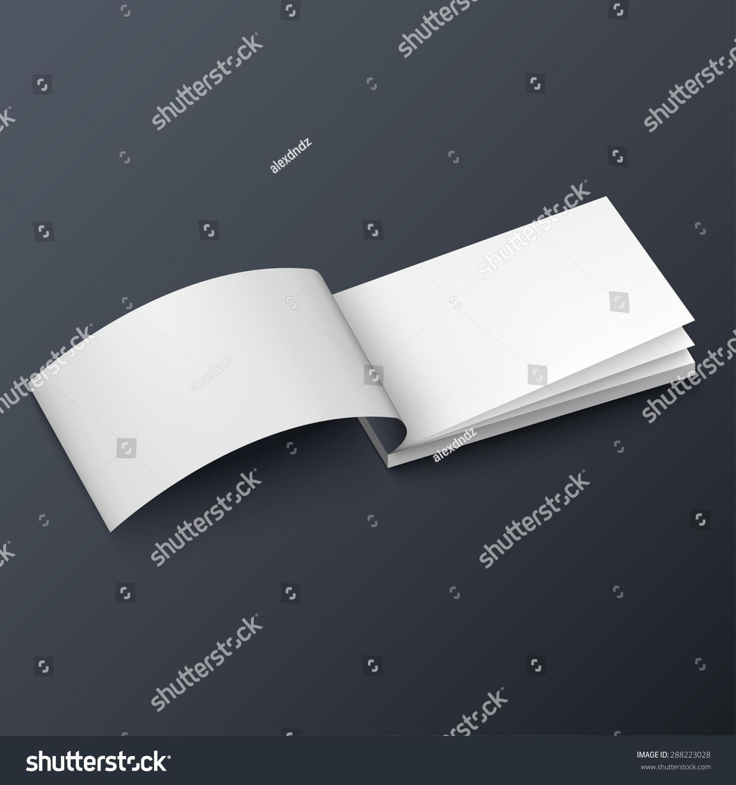 Notepad Booklet Business Card Brochure Mockup Stock Vector ...