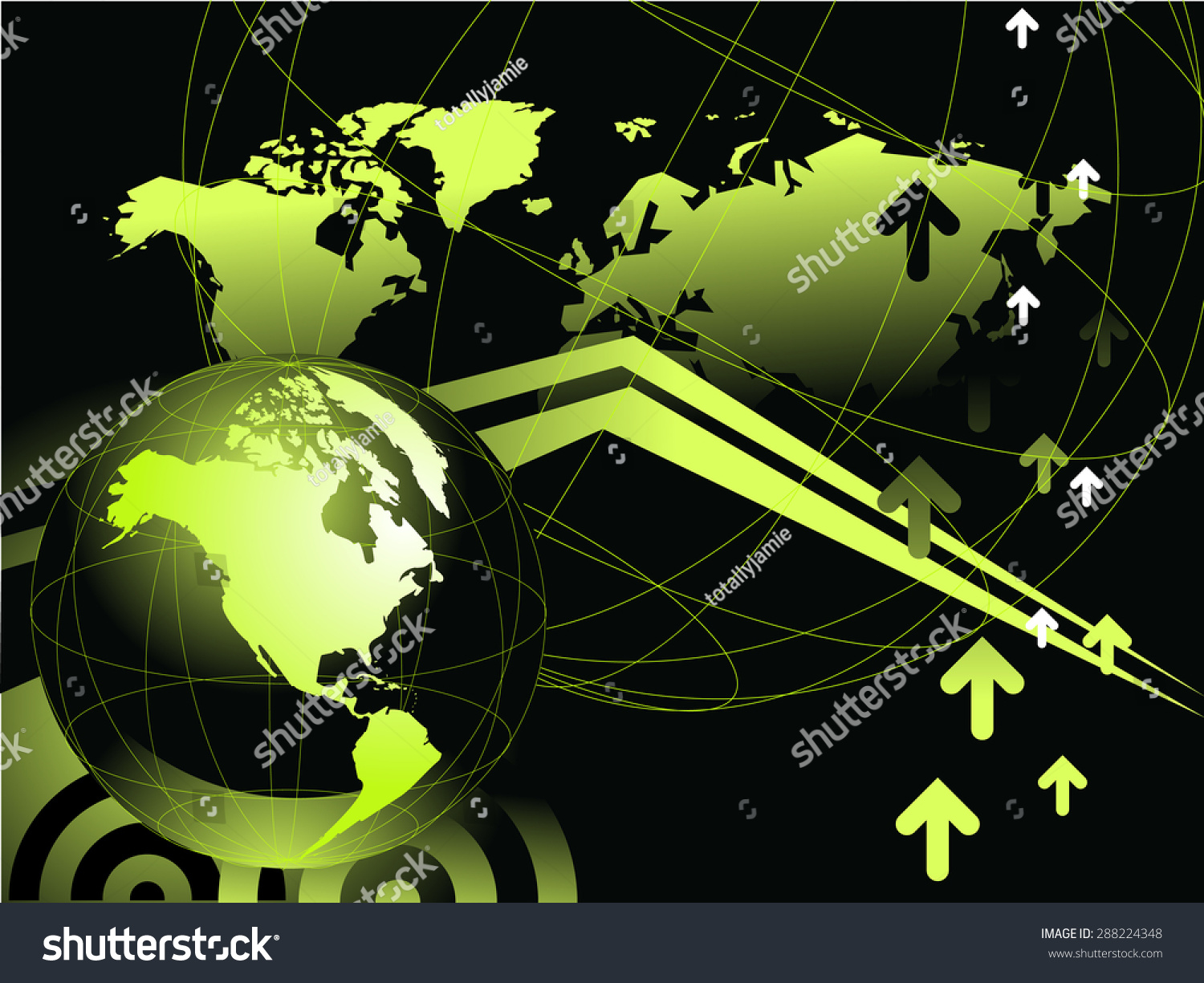 Neon green black world map globe stock vector royalty free neon green and black world map globe vector illustration background gumiabroncs Image collections