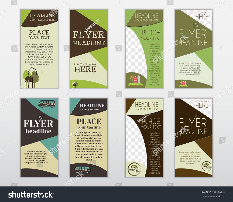 set flyer layout templates organic farm stock vector  set of flyer layout templates organic farm fresh rv holiday park