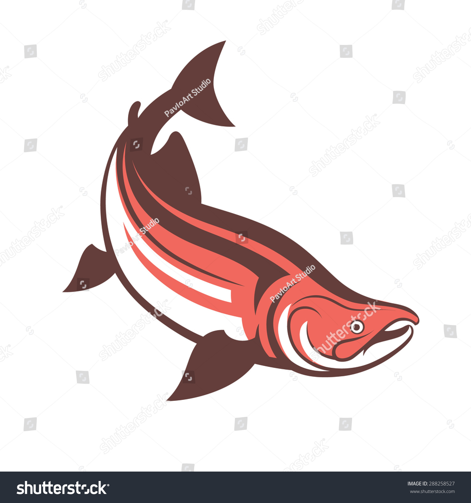 Salmon Fish Logo Template Vector Illustration Stock Vector 288258527 ...