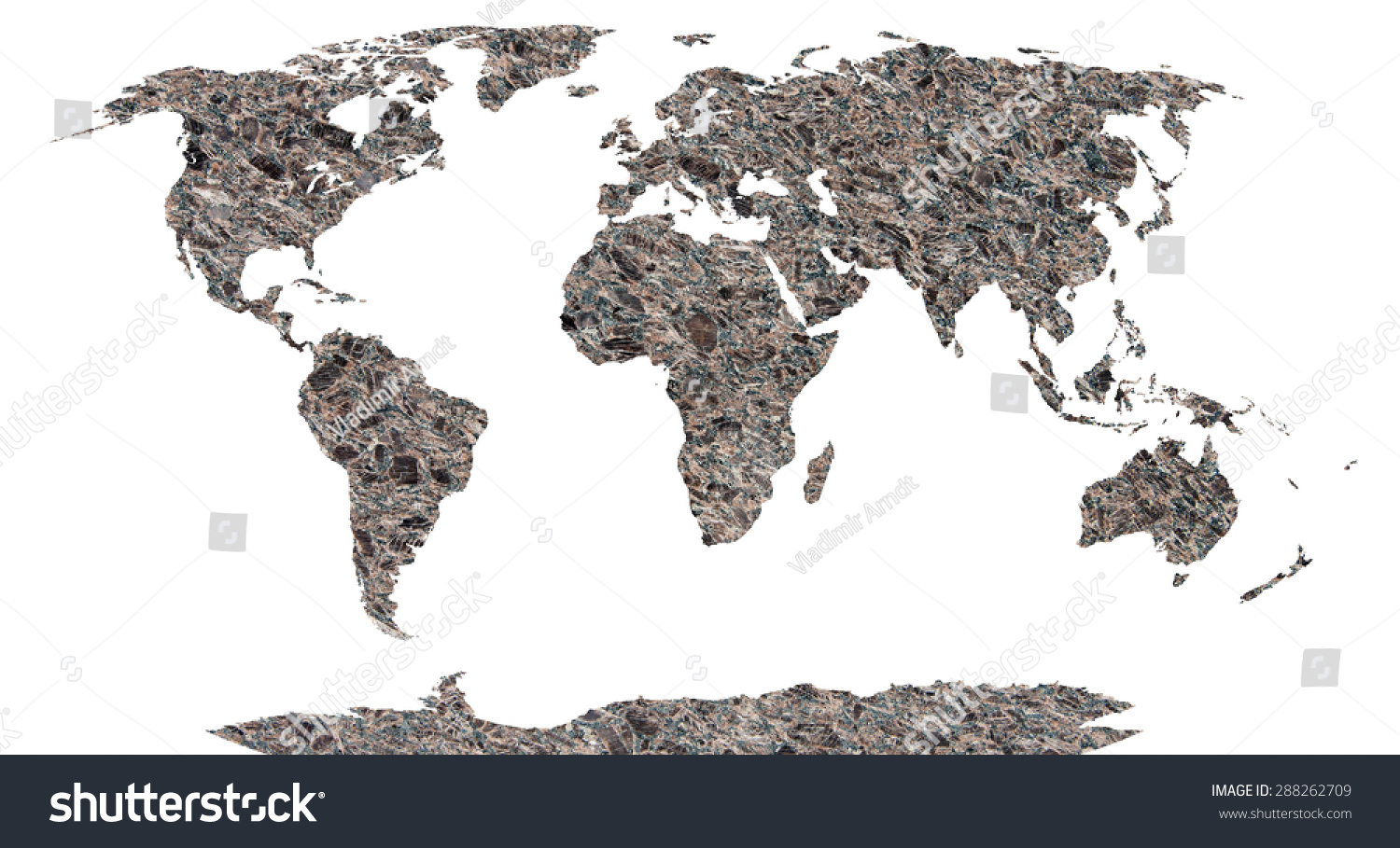 World map continents stone background stock illustration 288262709 world map continents in stone background gumiabroncs Gallery