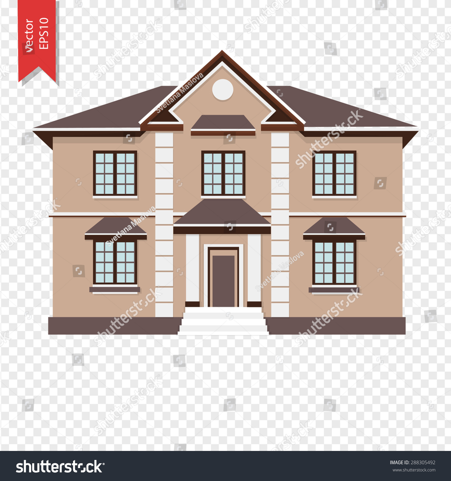 royalty free three colorful two storey house vector u2026 288305492