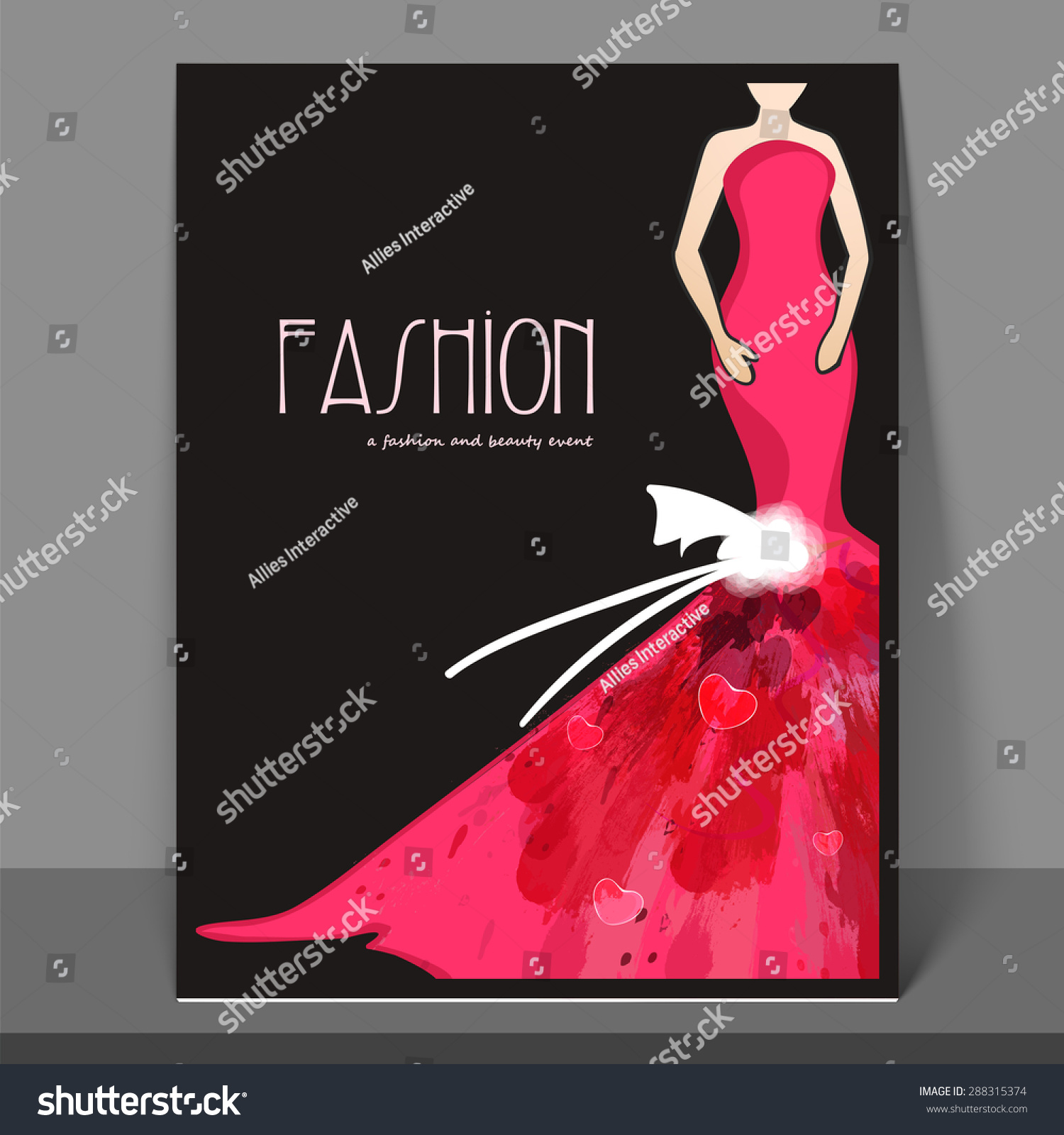 fashion flyers templates for free - stylish fashion flyer banner template design stock vector
