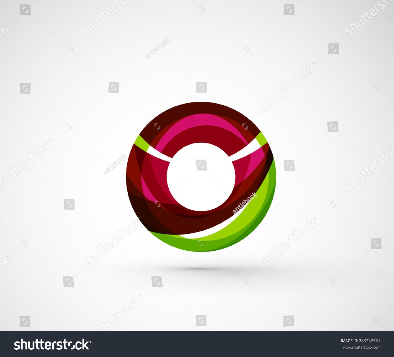 Abstract Geometric Company Logo Ring Circle Stock Vector