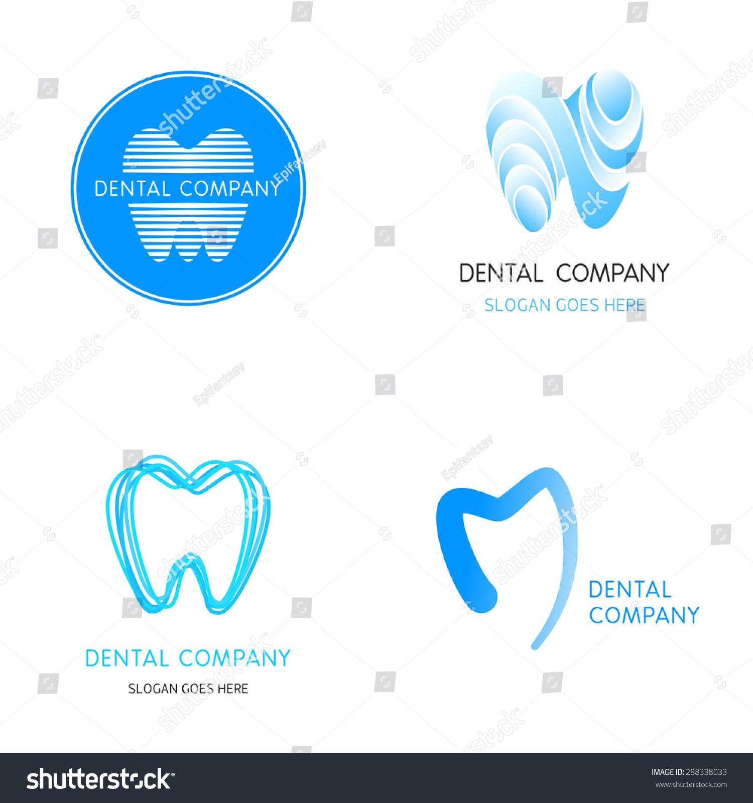 Dental Logos Templates Abstract Vector Teeth a Stock Vector ...
