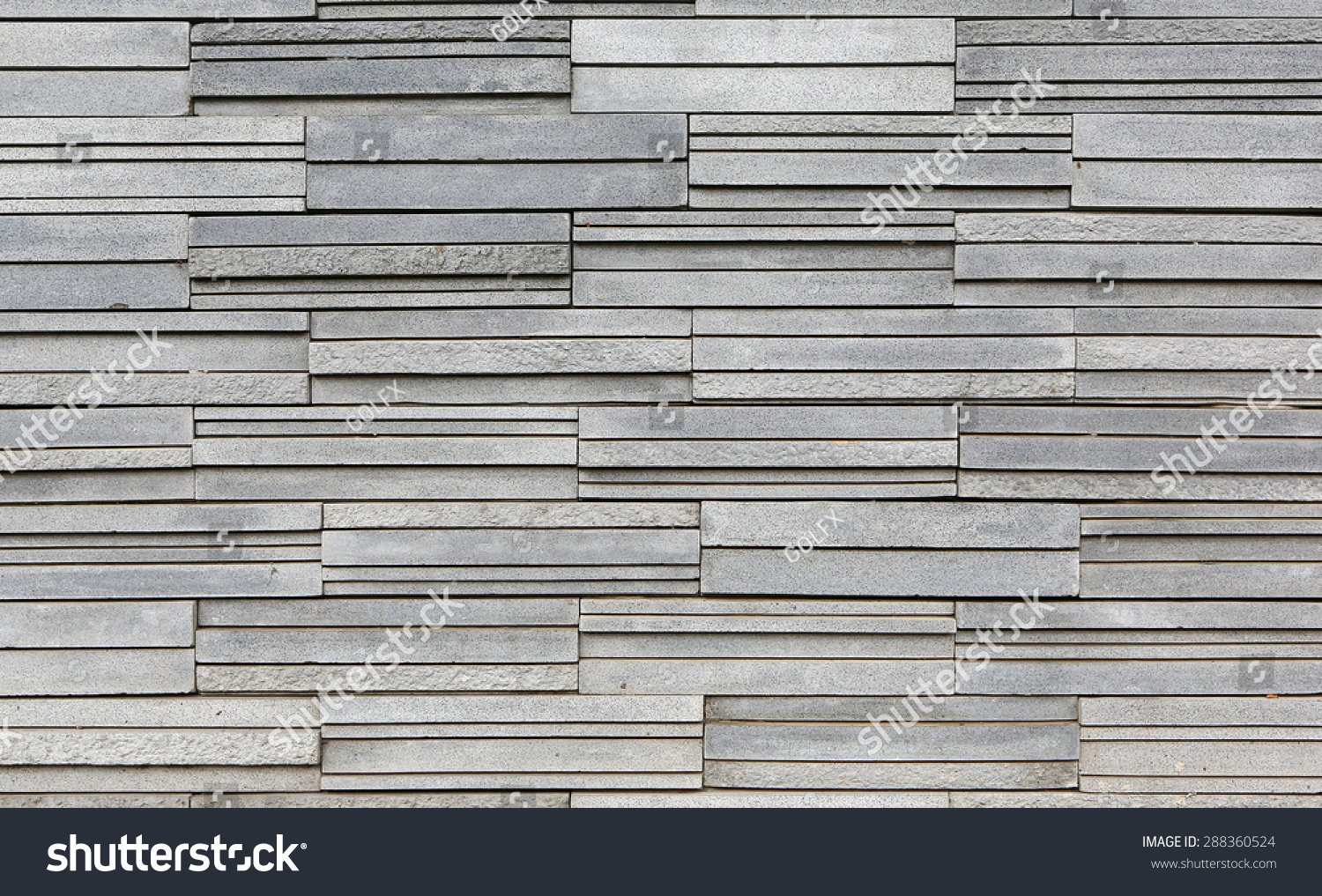 Grey Stone Tile Texture Brick Wall Stock Photo 288360524