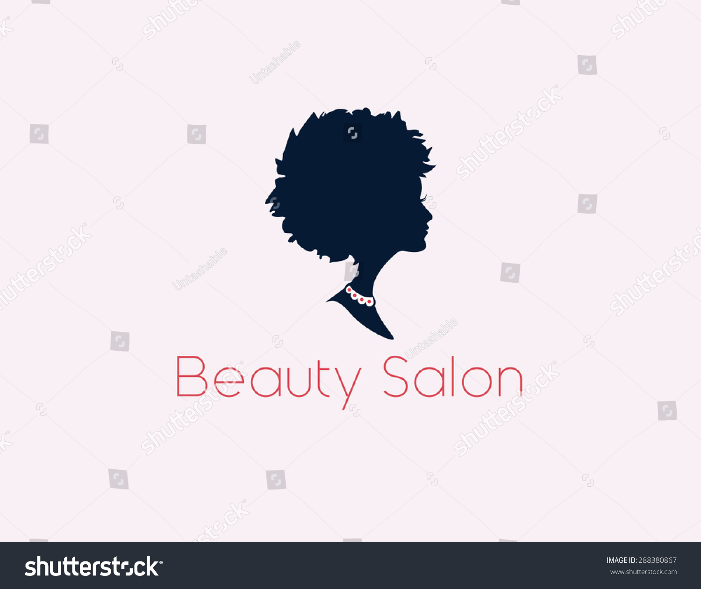 beauty salon logo w s profile vector stock vector 288380867 beauty salon logo a w s profile in vector format