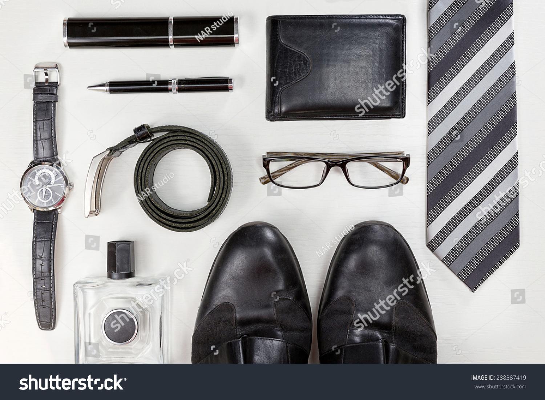 Men Accessories Black Elegant Accessories Pieces Stock ...
