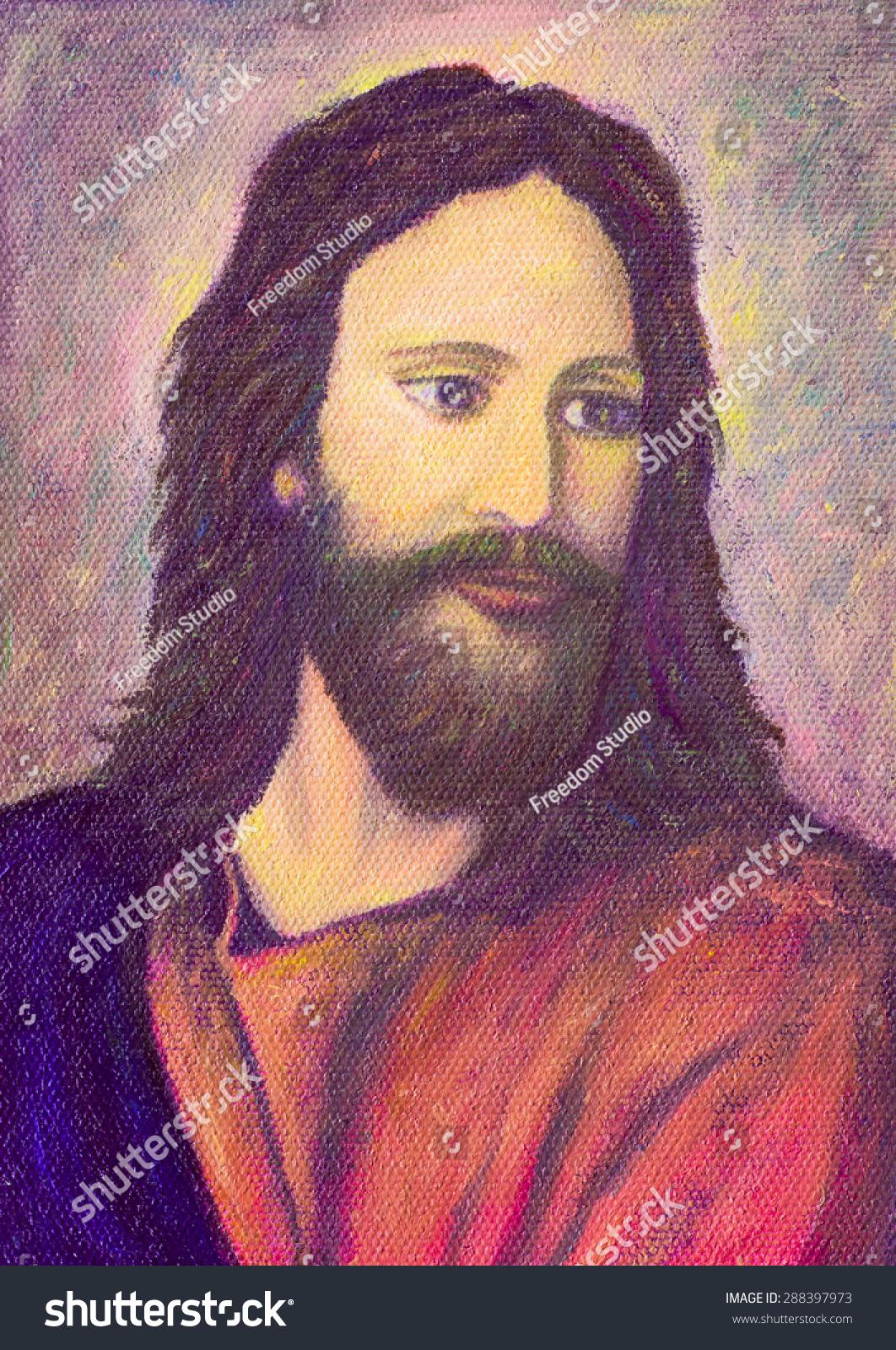 Royalty Free Stock Illustration of Portrait Jesus Christ Original ...