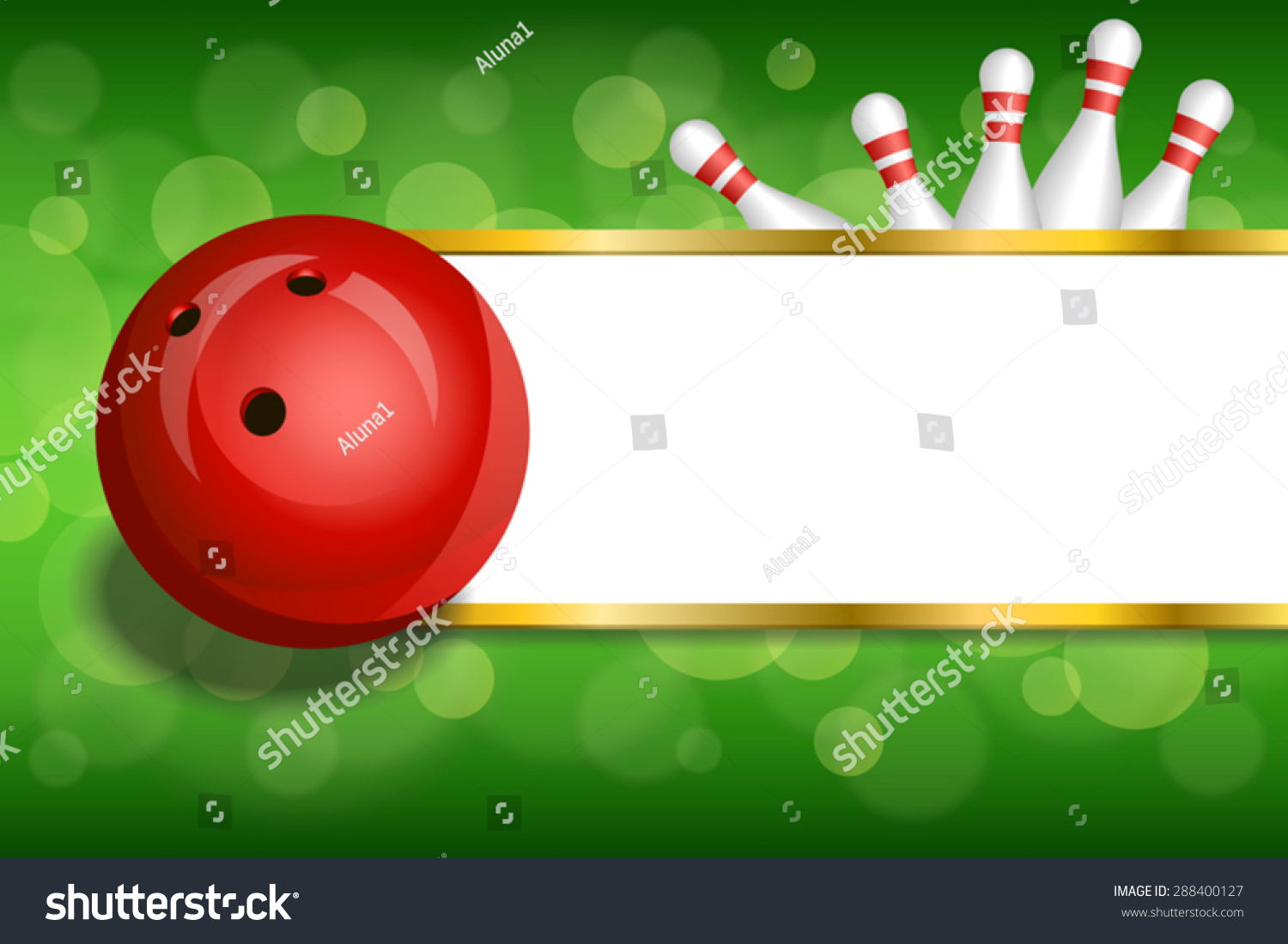 Background Abstract Green Gold Stripes Bowling Stock Vector HD ...
