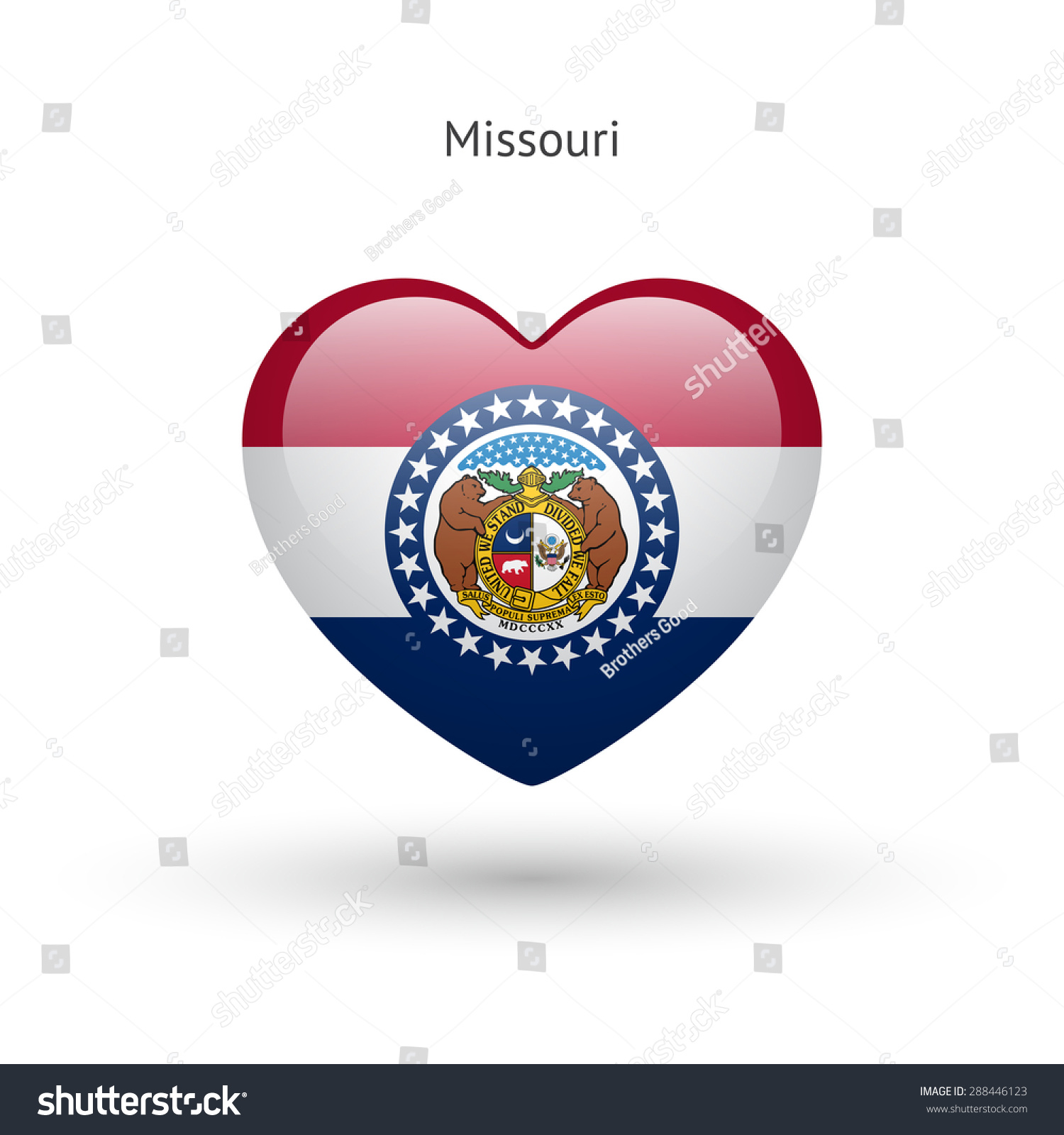 Love missouri state symbol heart flag stock vector 288446123 love missouri state symbol heart flag icon vector illustration buycottarizona
