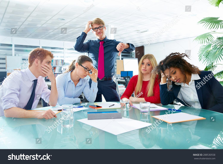 Business Meeting Sad Expression Bad Negative Stock Photo 288530558 ...