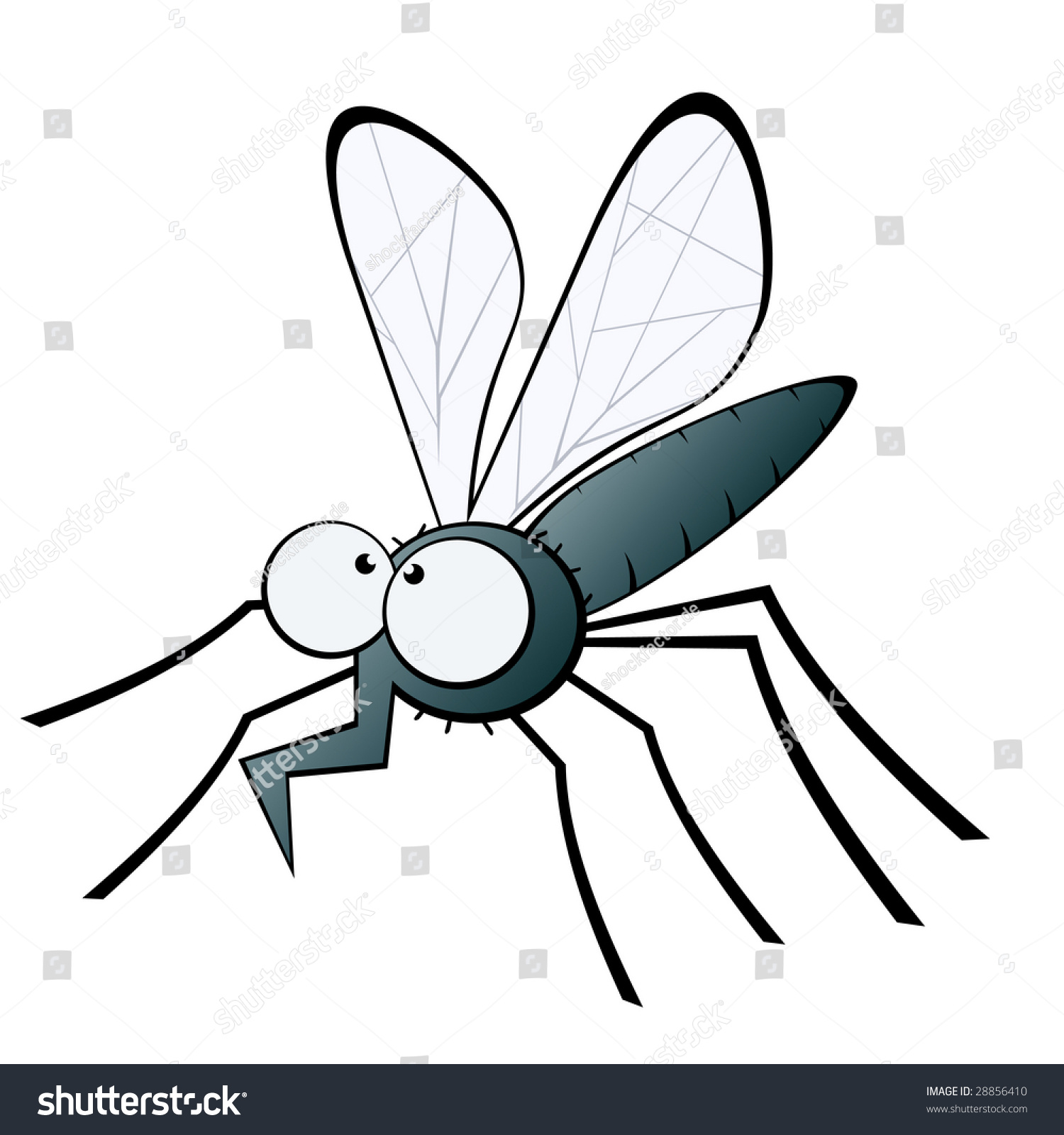 funny mosquito illustration stock vector 28856410 shutterstock