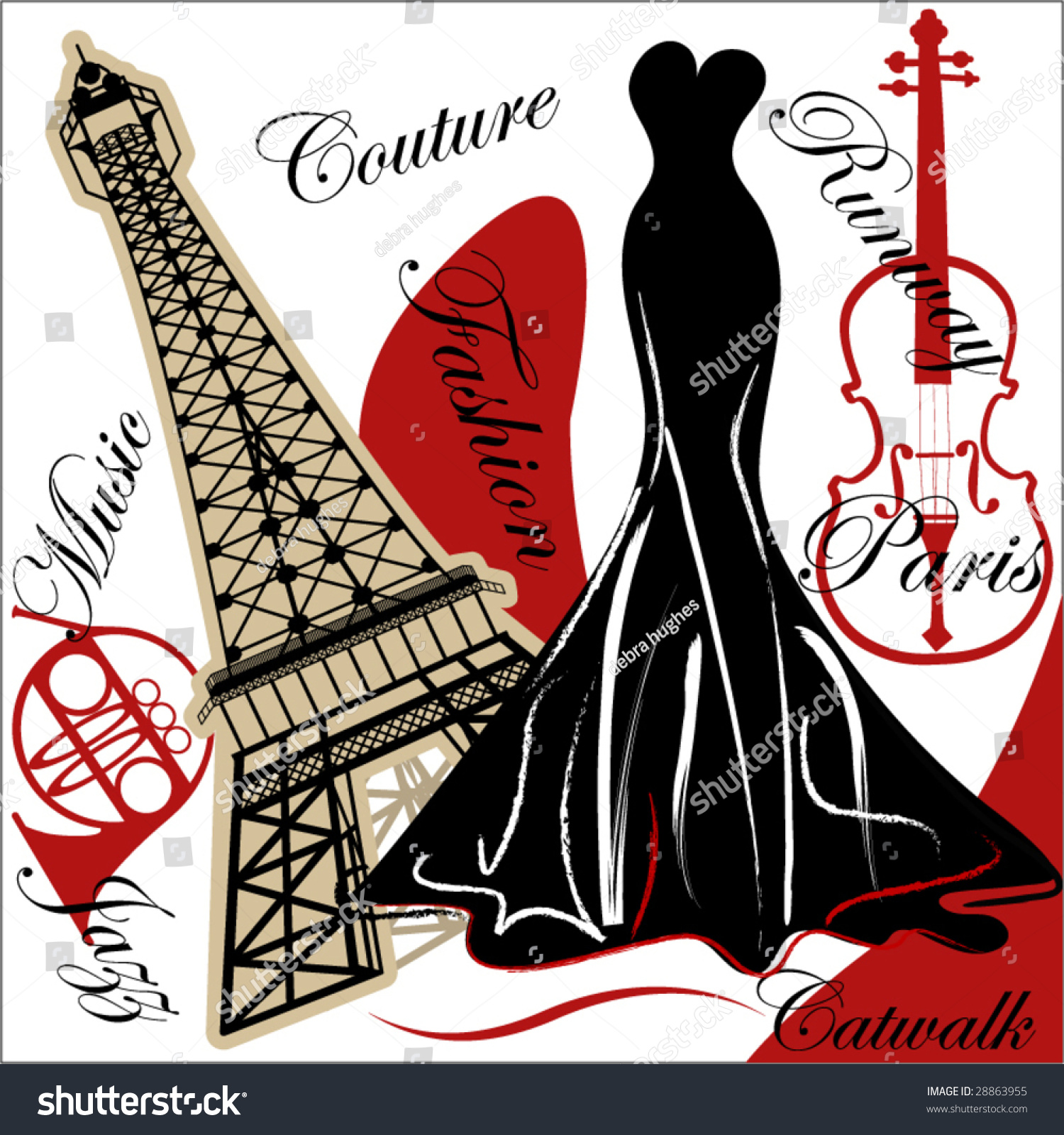 French couture fashion stock vector 28863955 shutterstock for French couture