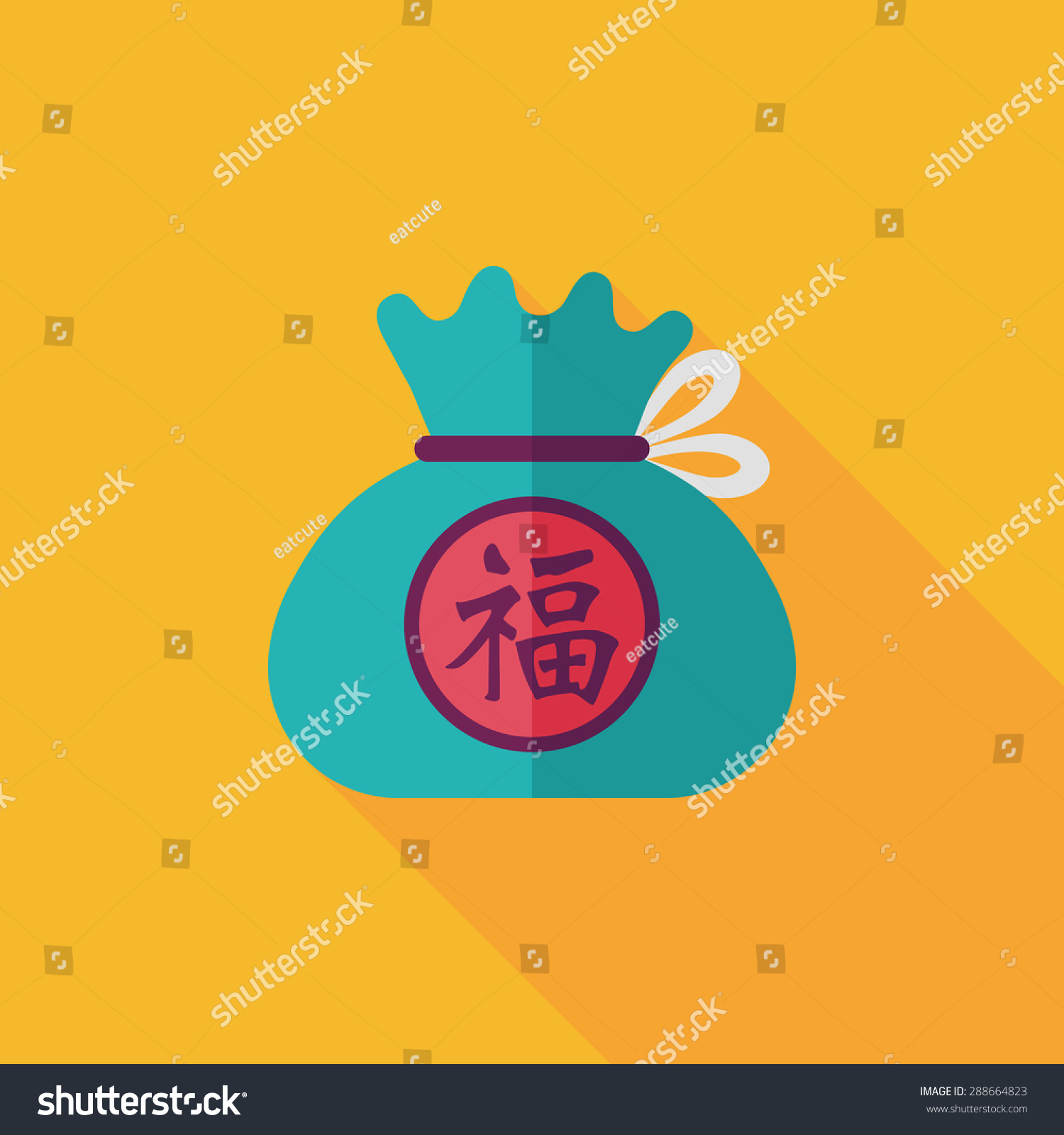 chinese new year flat icon long stock illustration 288664823 shutterstock - How Long Is Chinese New Year