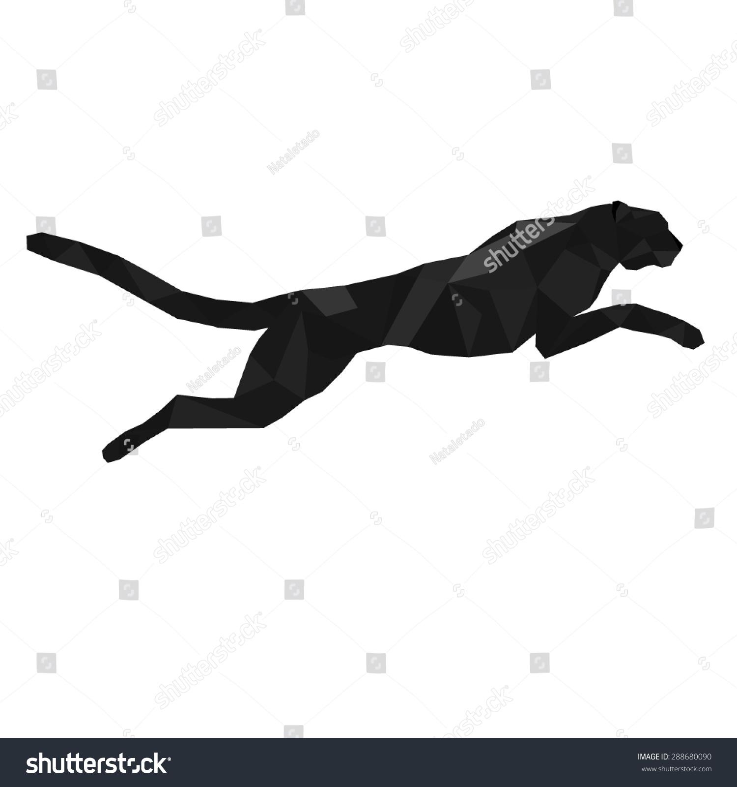 Black Panther Stylized Triangle Polygonal Model Stock ...
