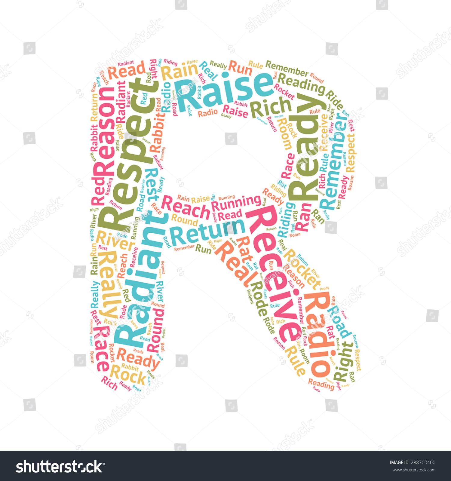 cute word cloud abc letters series all the letters from the alphabet formed