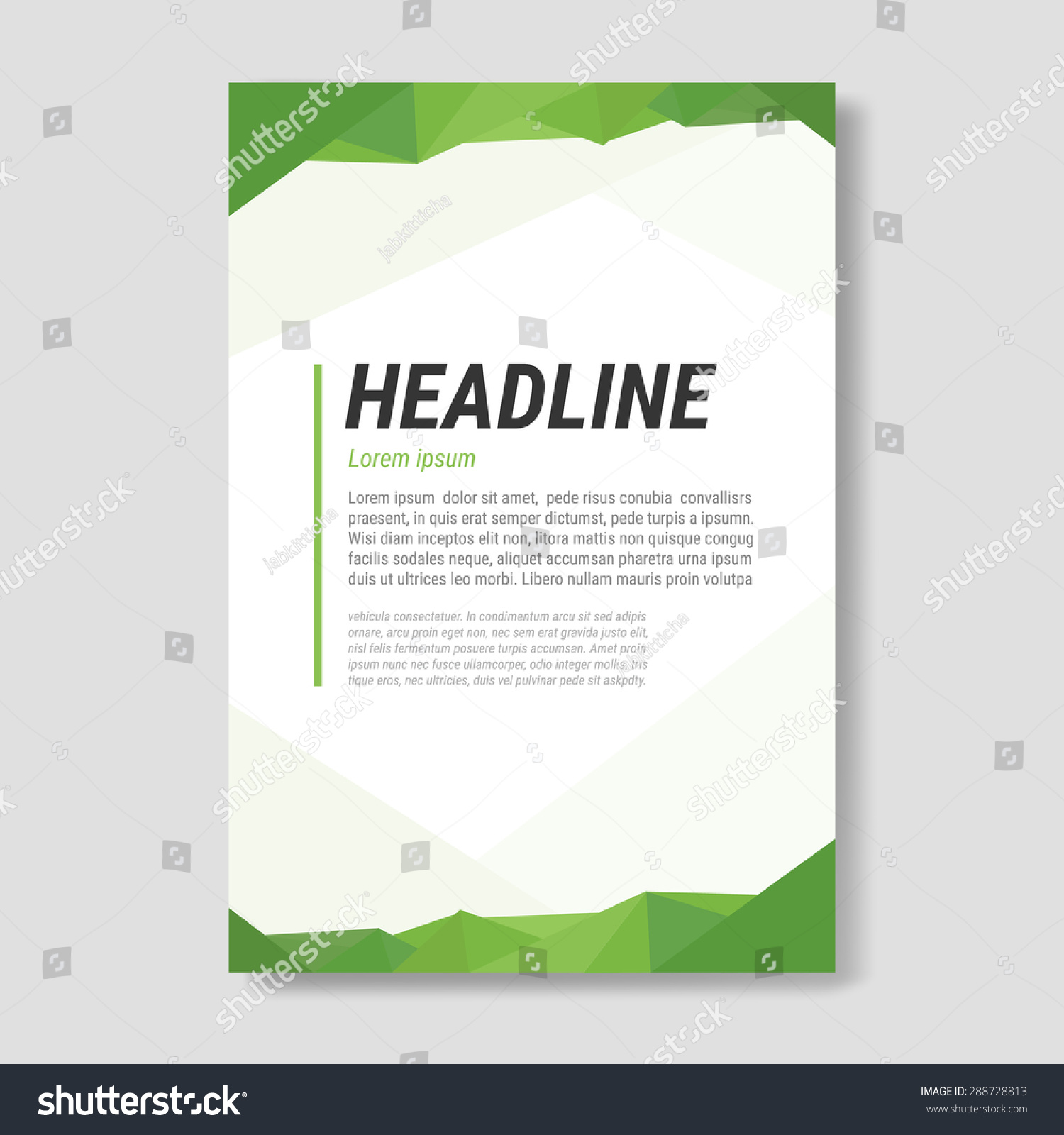 Graphic design document template business visual stock vector graphic design document template for business visual identity modern low poly style pronofoot35fo Choice Image