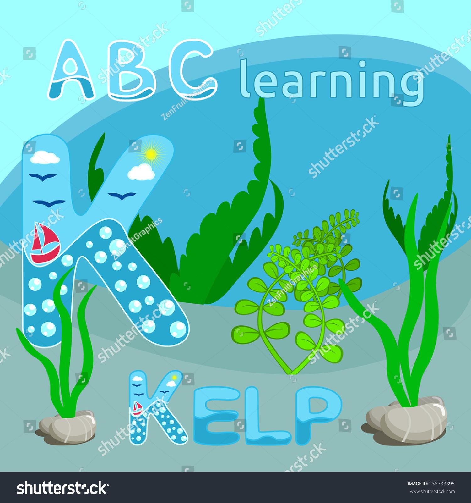 Sea Theme Alphabet Letter Vector K Stock Vector HD (Royalty Free ...