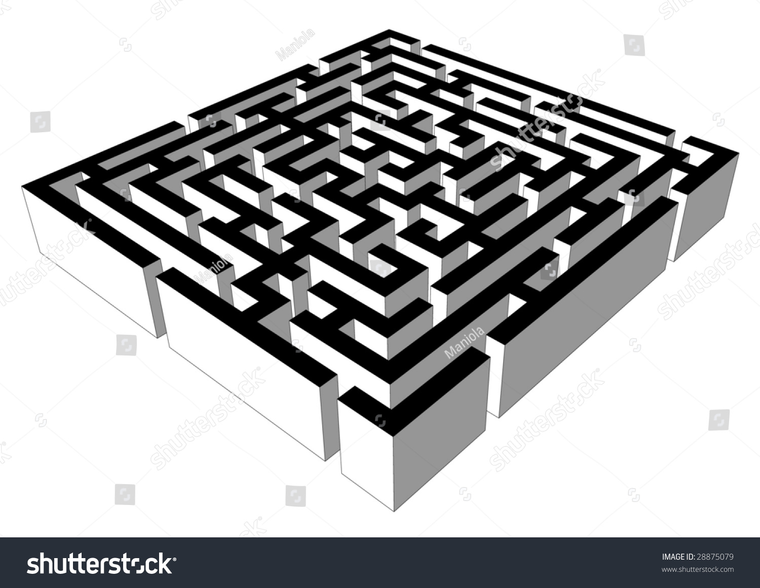 Vector 3d labyrinth symbolizing problem solving stock vector vector 3d labyrinth symbolizing problem solving buycottarizona Image collections
