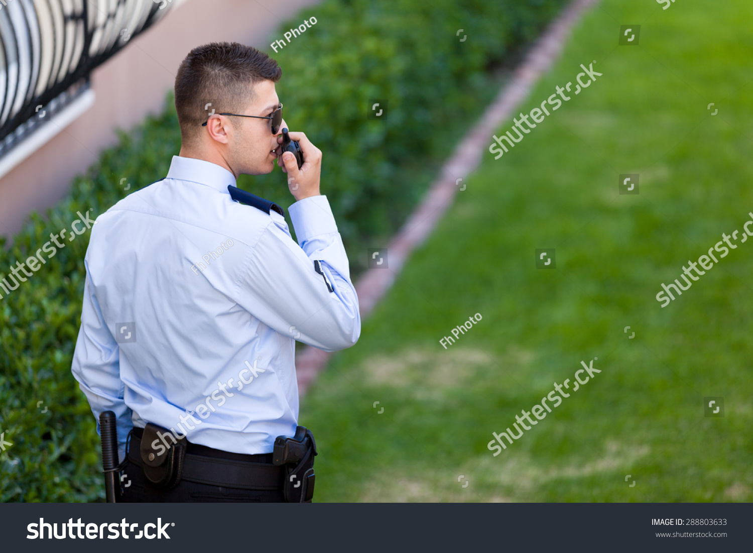 working as security guard