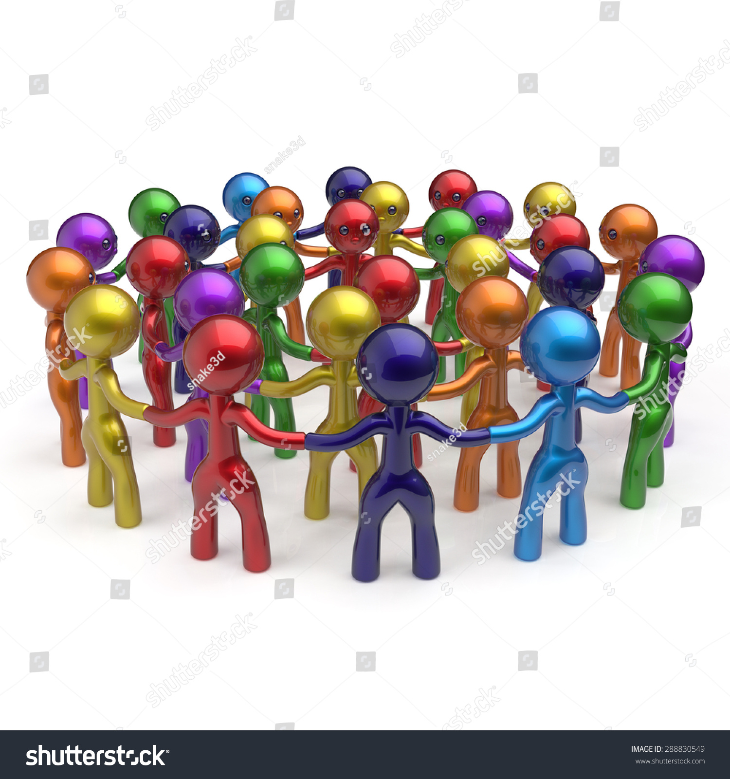 Group Of 6 Cartoon Characters : Social network worldwide large group people stock
