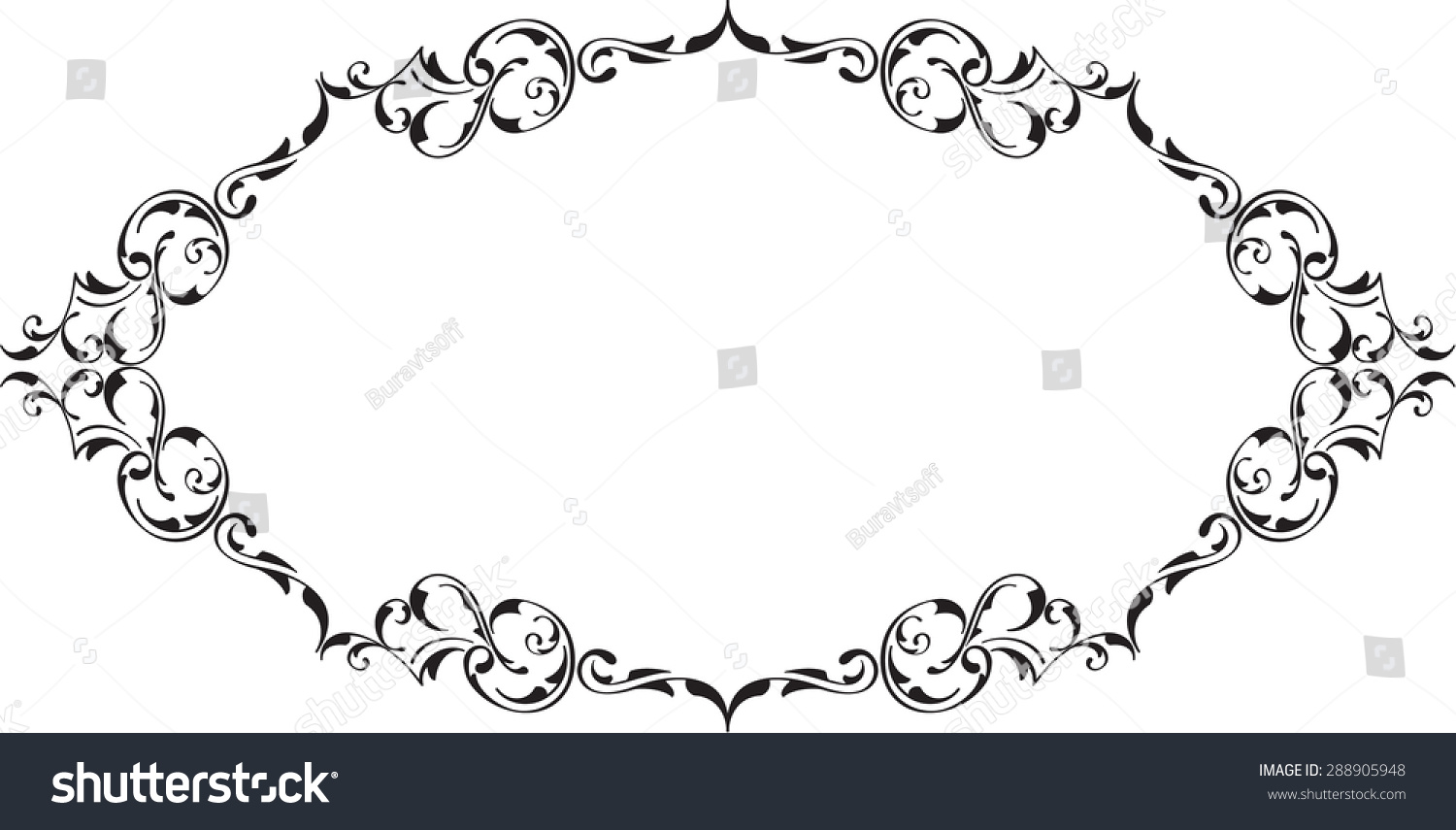 Scrolling Perfect Book Frame On White Stock Vector (Royalty Free ...